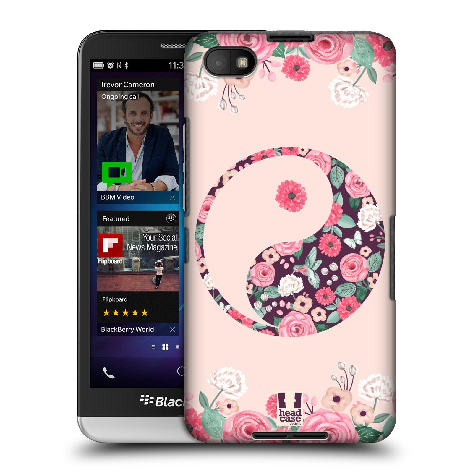 Plastové pouzdro na mobil Blackberry Z30 HEAD CASE Yin a Yang Floral (Kryt či obal na mobilní telefon Blackberry Z30)