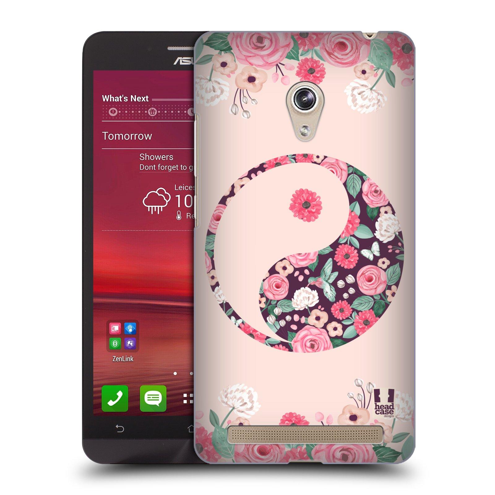 Plastové pouzdro na mobil Asus Zenfone 6 HEAD CASE Yin a Yang Floral (Kryt či obal na mobilní telefon Asus Zenfone 6 A600CG / A601CG)