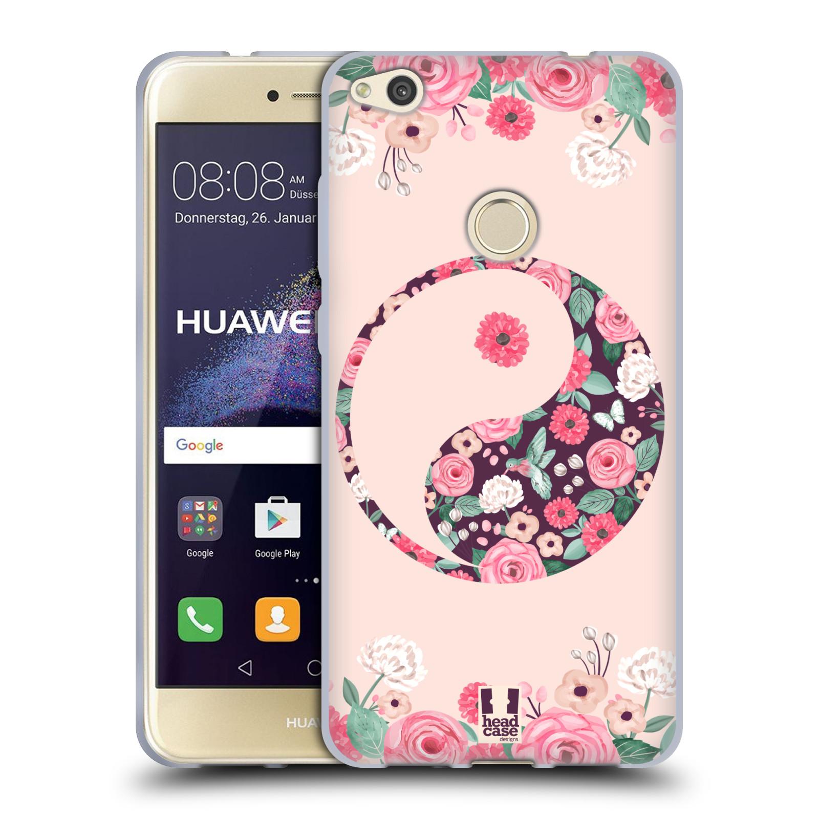 Silikonové pouzdro na mobil Huawei P9 Lite (2017) HEAD CASE Yin a Yang Floral