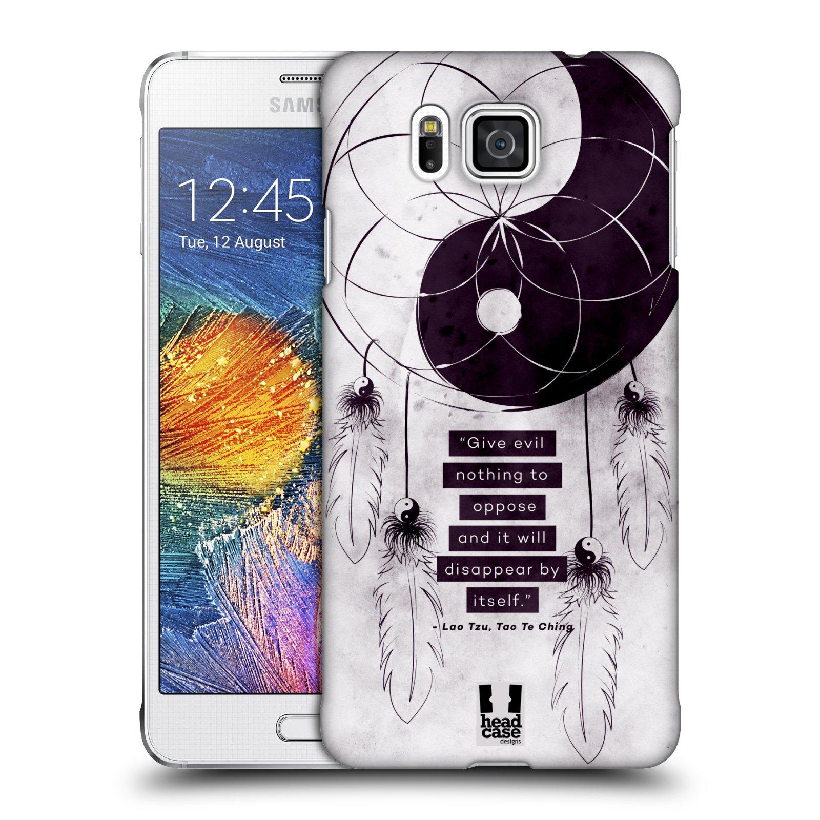 Plastové pouzdro na mobil Samsung Galaxy Alpha HEAD CASE Yin a Yang CATCHER (Kryt či obal na mobilní telefon Samsung Galaxy Alpha SM-G850)