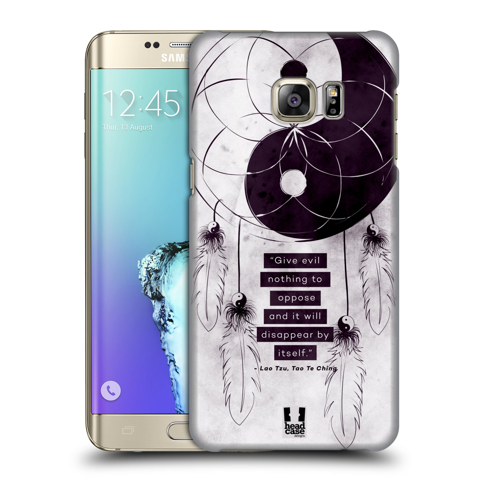 Plastové pouzdro na mobil Samsung Galaxy S6 Edge Plus HEAD CASE Yin a Yang CATCHER