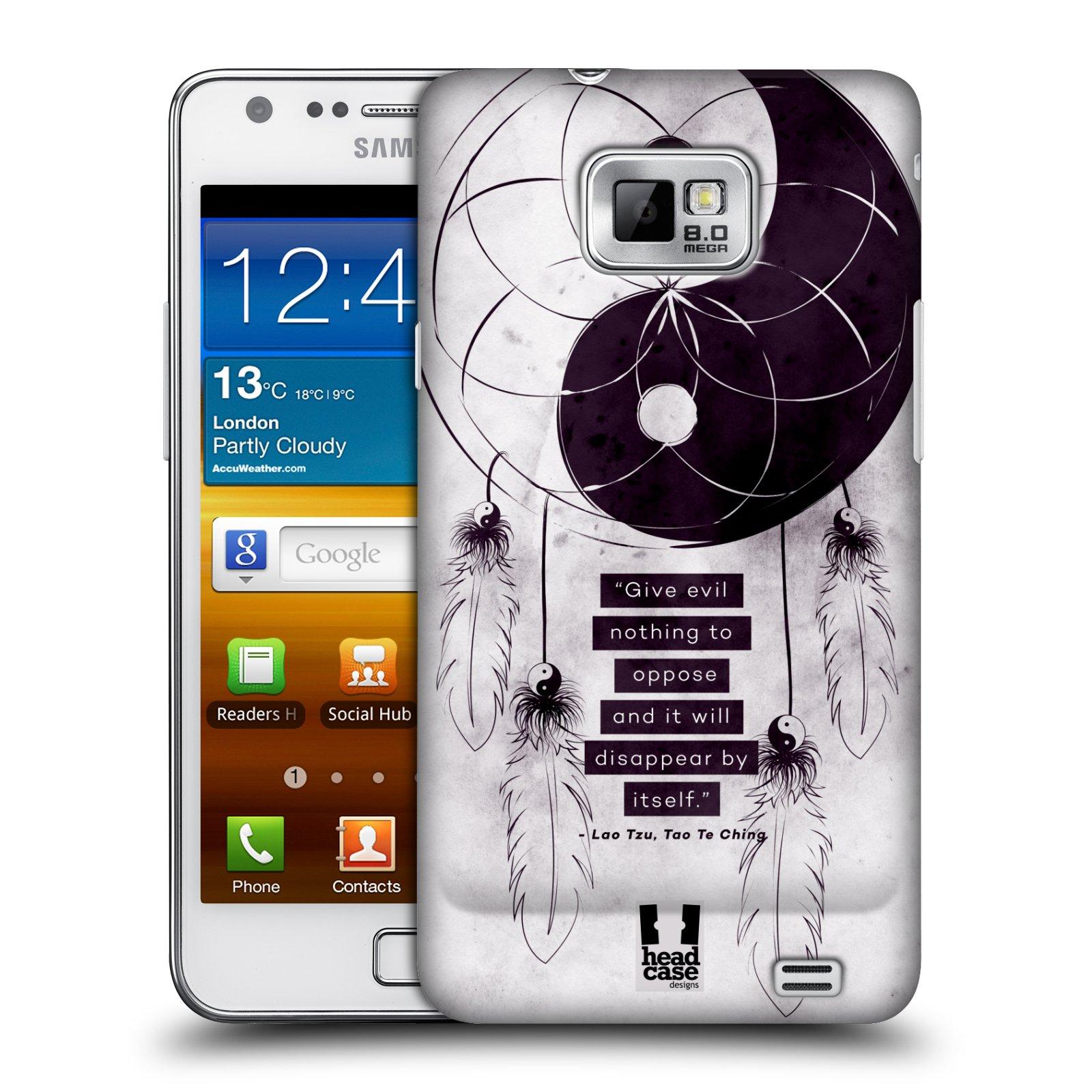 Plastové pouzdro na mobil Samsung Galaxy S II HEAD CASE Yin a Yang CATCHER (Kryt či obal na mobilní telefon Samsung Galaxy S II GT-i9100)