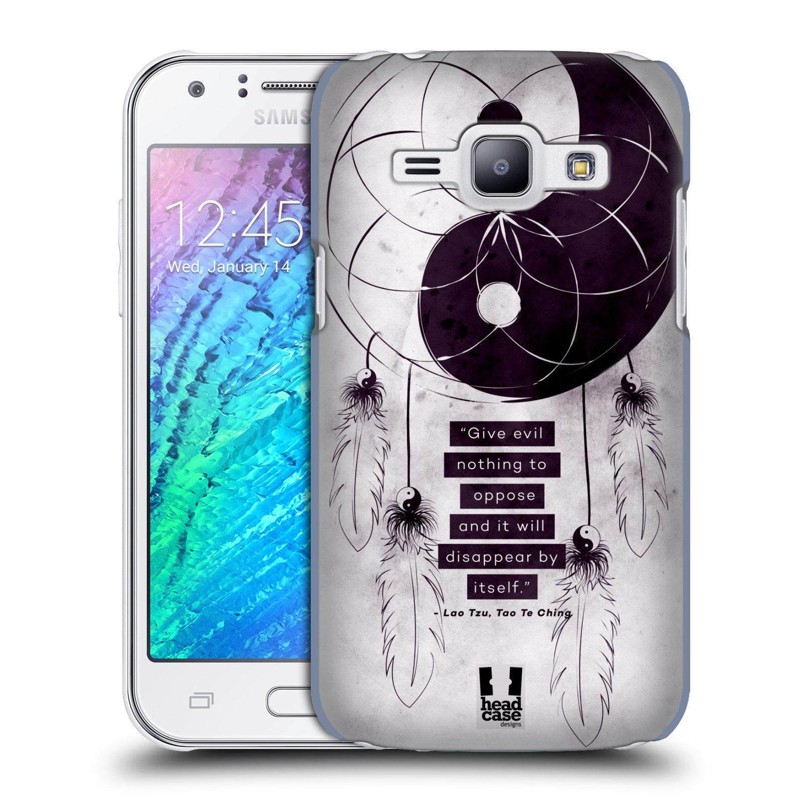 Plastové pouzdro na mobil Samsung Galaxy J1 HEAD CASE Yin a Yang CATCHER (Kryt či obal na mobilní telefon Samsung Galaxy J1 a J1 Duos )