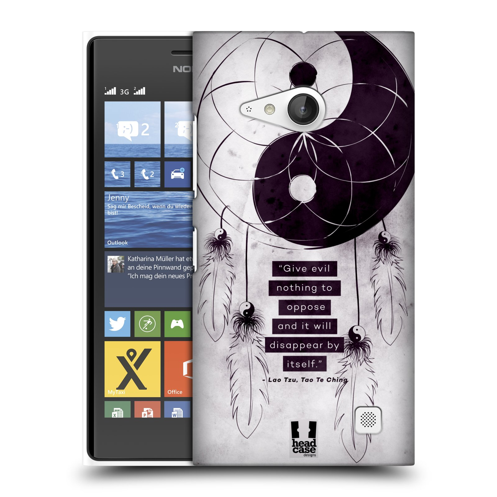 Plastové pouzdro na mobil Nokia Lumia 730 Dual SIM HEAD CASE Yin a Yang CATCHER (Kryt či obal na mobilní telefon Nokia Lumia 730 Dual SIM)