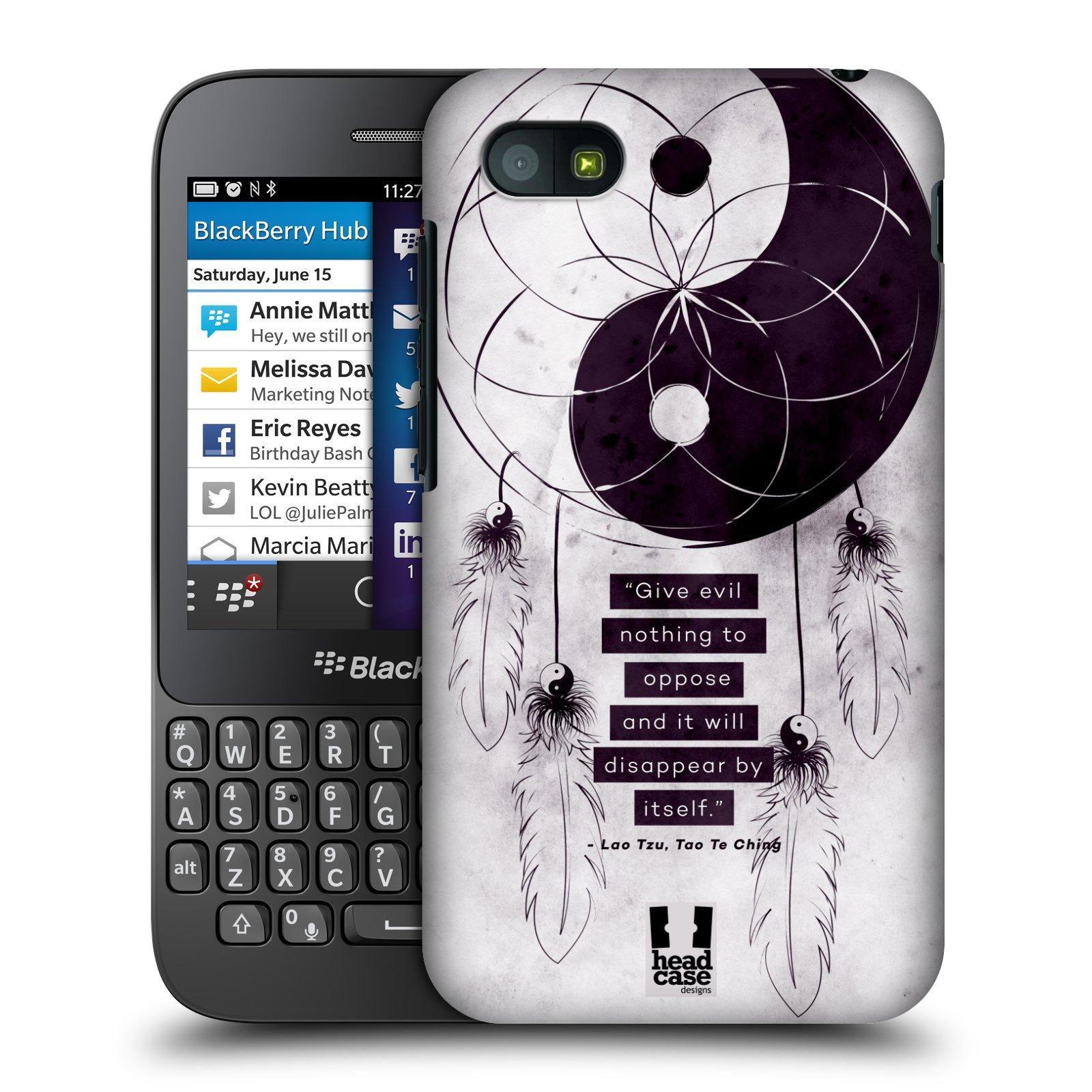 Plastové pouzdro na mobil Blackberry Q5 HEAD CASE Yin a Yang CATCHER (Kryt či obal na mobilní telefon Blackberry Q5)