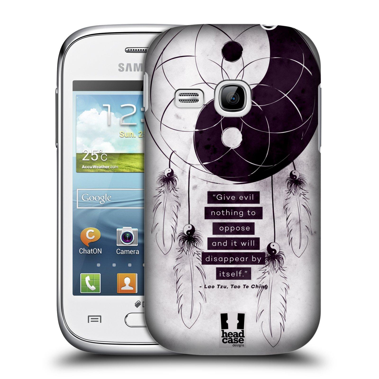 Plastové pouzdro na mobil Samsung Galaxy Young HEAD CASE Yin a Yang CATCHER (Kryt či obal na mobilní telefon Samsung Galaxy Young GT-S6310)