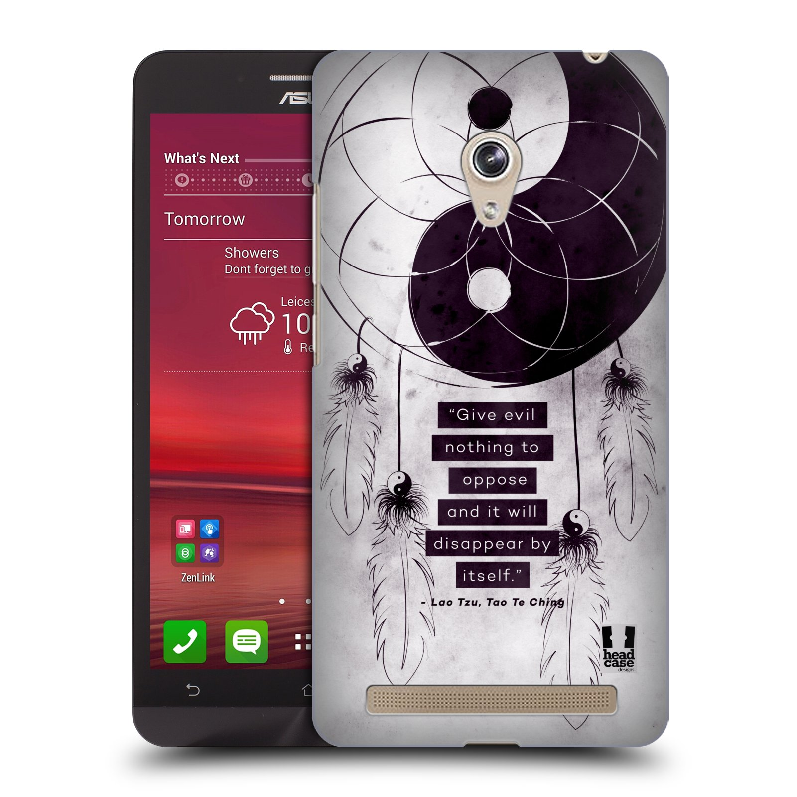Plastové pouzdro na mobil Asus Zenfone 6 HEAD CASE Yin a Yang CATCHER (Kryt či obal na mobilní telefon Asus Zenfone 6 A600CG / A601CG)