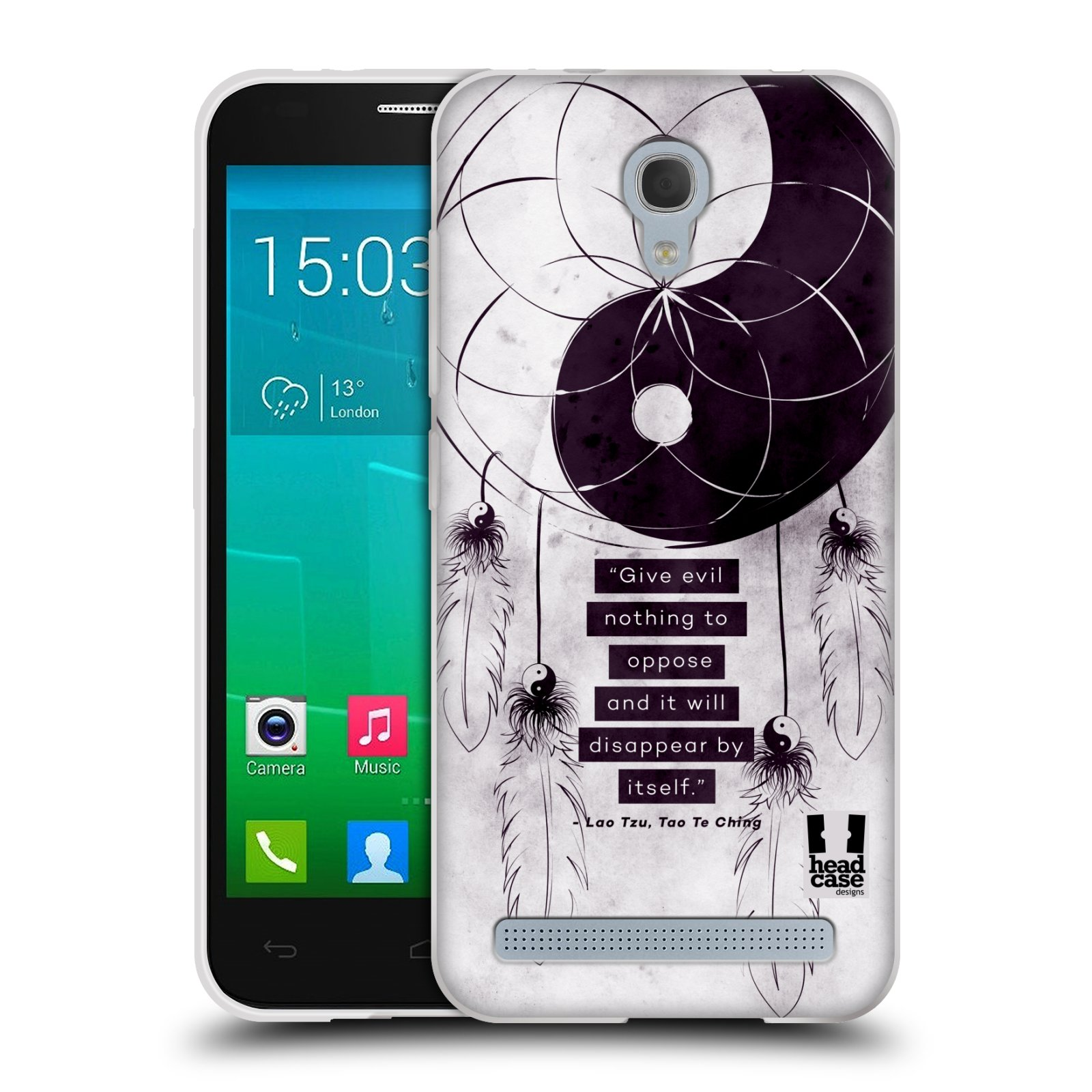 Silikonové pouzdro na mobil Alcatel One Touch Idol 2 Mini S 6036Y HEAD CASE YIn a Yang CATCHER