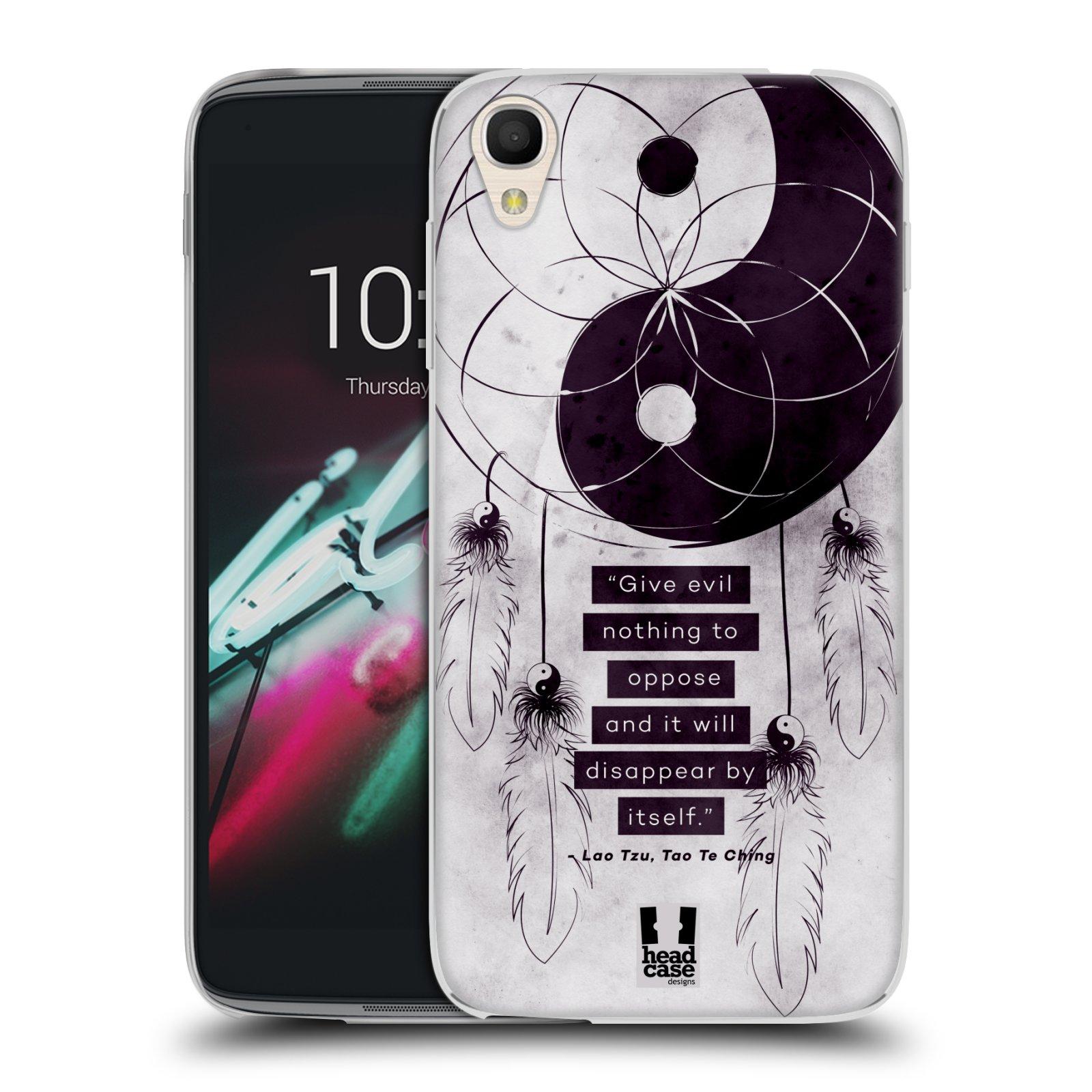 """Silikonové pouzdro na mobil Alcatel One Touch 6039Y Idol 3 HEAD CASE YIn a Yang CATCHER (Silikonový kryt či obal na mobilní telefon Alcatel One Touch Idol 3 OT-6039Y s 4,7"""" displejem)"""