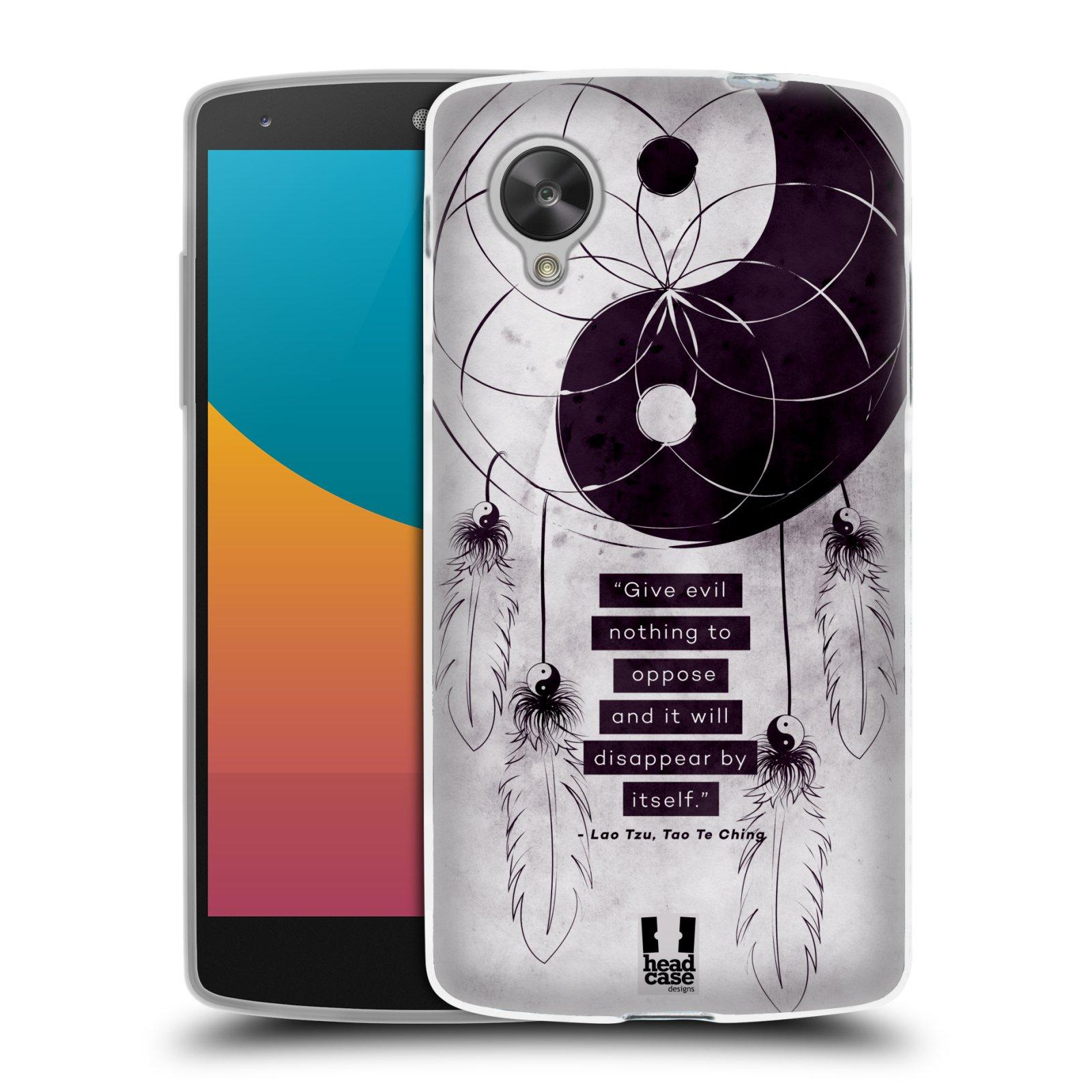 Silikonové pouzdro na mobil LG Nexus 5 HEAD CASE YIn a Yang CATCHER (Silikonový kryt či obal na mobilní telefon LG Google Nexus 5 D821)