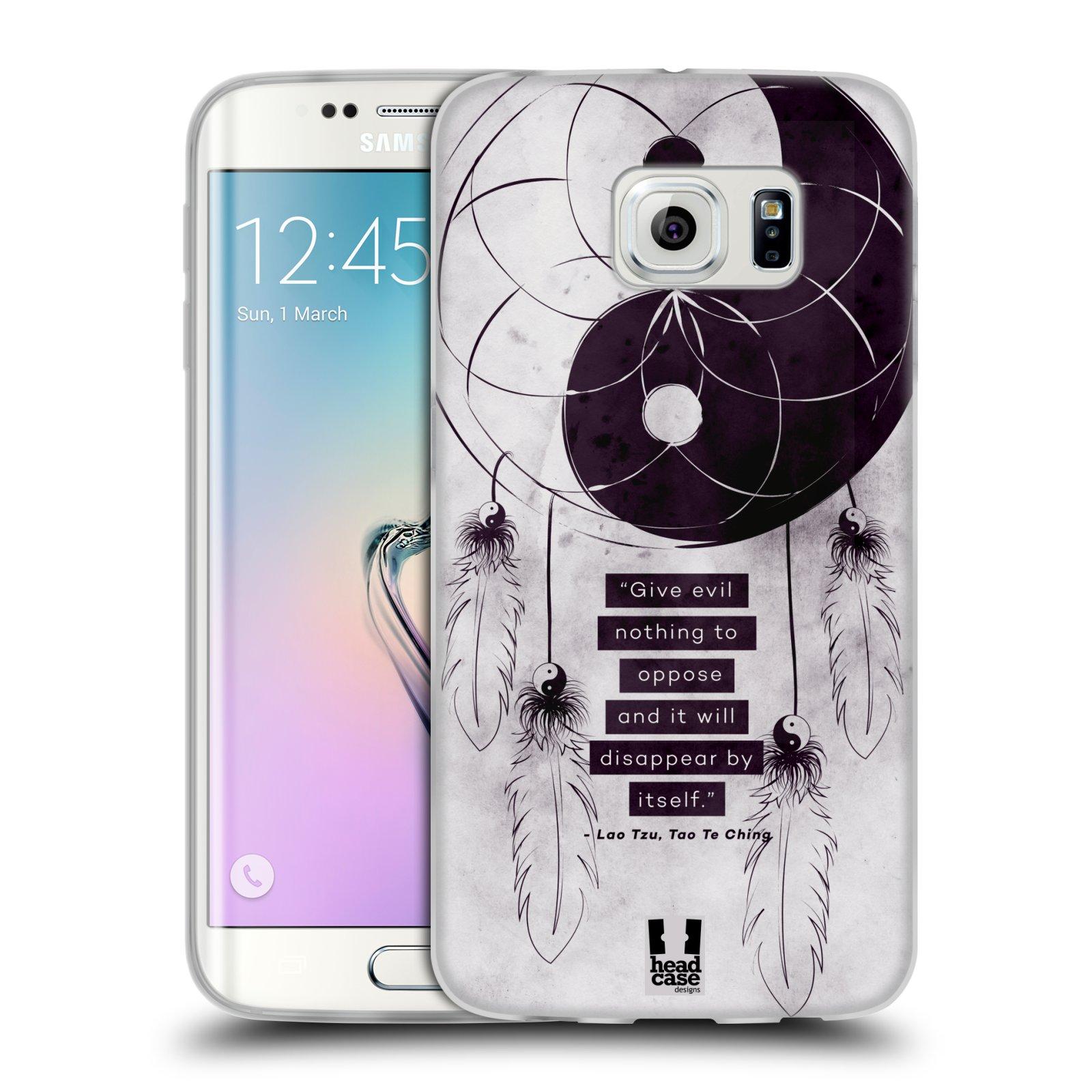Silikonové pouzdro na mobil Samsung Galaxy S6 Edge HEAD CASE YIn a Yang CATCHER (Silikonový kryt či obal na mobilní telefon Samsung Galaxy S6 Edge SM-G925F)