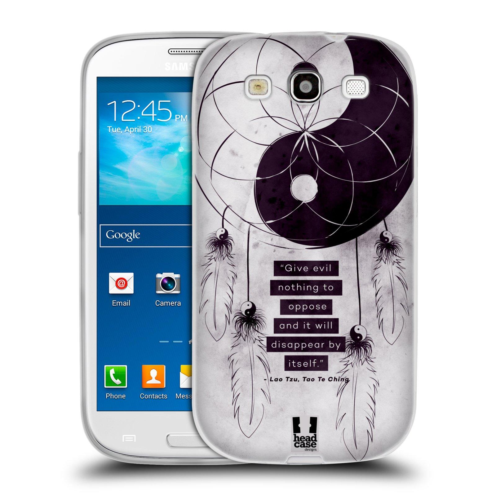 Silikonové pouzdro na mobil Samsung Galaxy S3 Neo HEAD CASE YIn a Yang CATCHER (Silikonový kryt či obal na mobilní telefon Samsung Galaxy S3 Neo GT-i9301i)