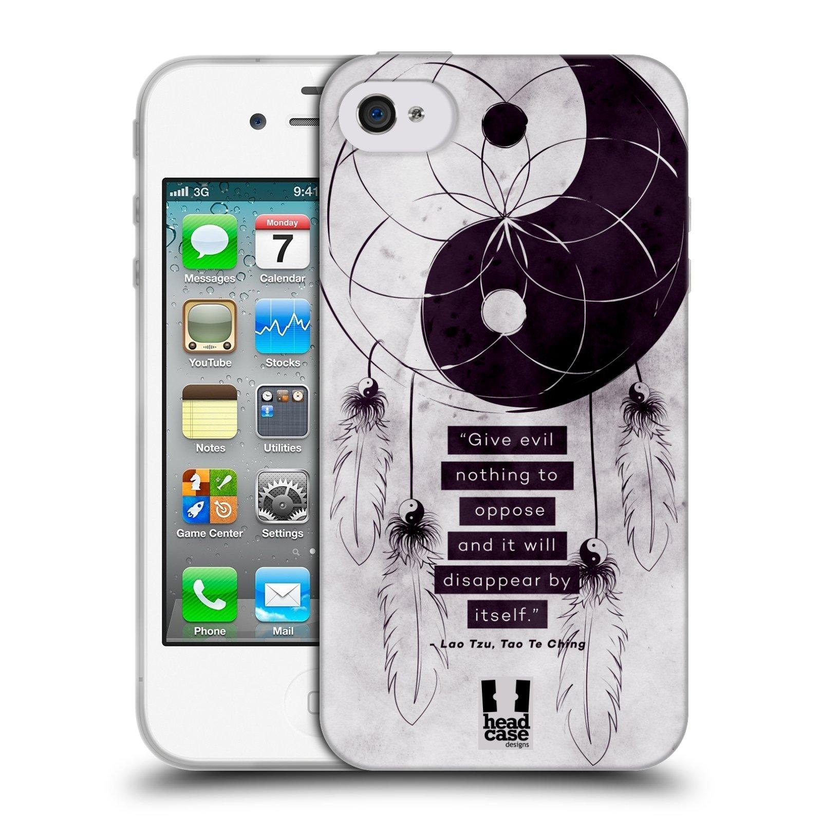 Silikonové pouzdro na mobil Apple iPhone 4 a 4S HEAD CASE YIn a Yang CATCHER (Silikonový kryt či obal na mobilní telefon Apple iPhone 4 a 4S)