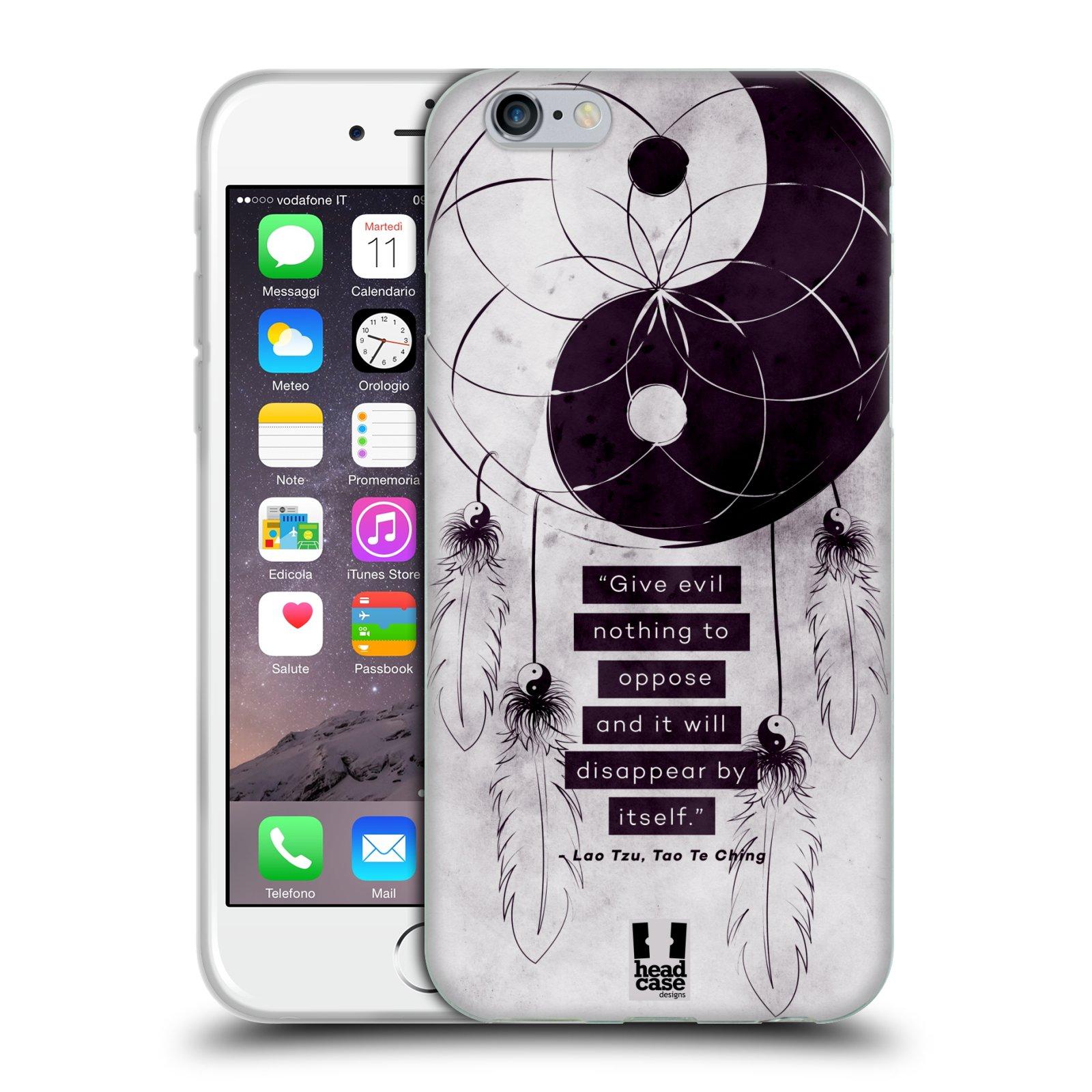 Silikonové pouzdro na mobil Apple iPhone 6 a 6S HEAD CASE YIn a Yang CATCHER