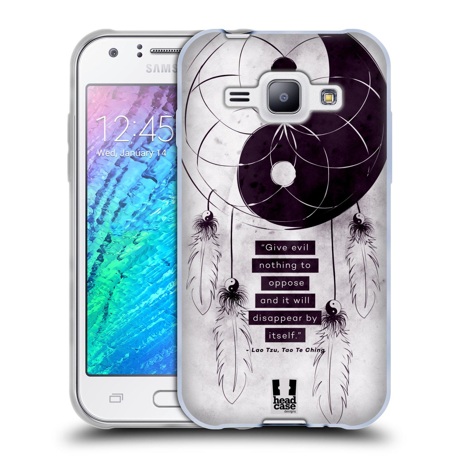 Silikonové pouzdro na mobil Samsung Galaxy J1 HEAD CASE YIn a Yang CATCHER (Silikonový kryt či obal na mobilní telefon Samsung Galaxy J1 a J1 Duos)