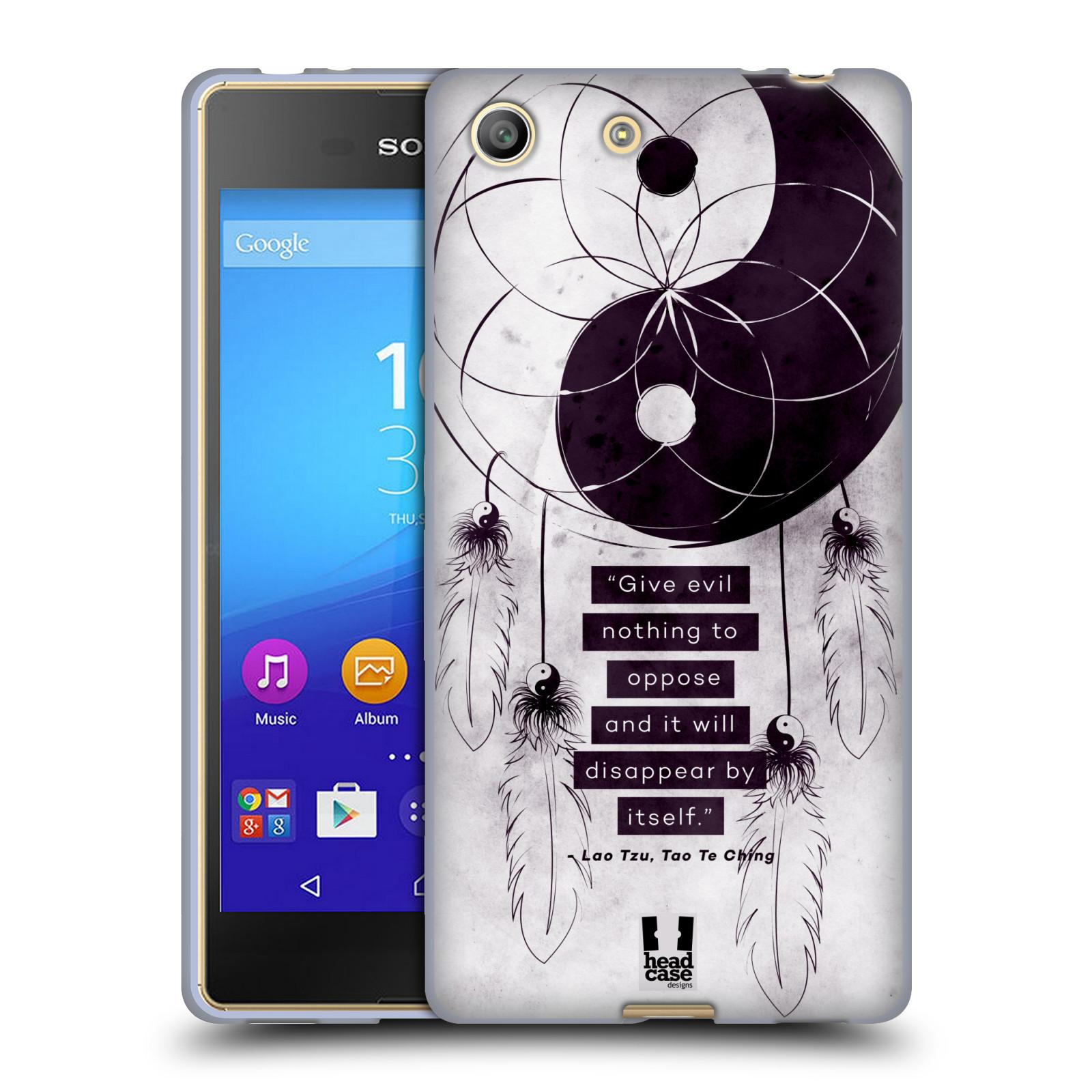 Silikonové pouzdro na mobil Sony Xperia M5 HEAD CASE YIn a Yang CATCHER (Silikonový kryt či obal na mobilní telefon Sony Xperia M5 Dual SIM / Aqua)
