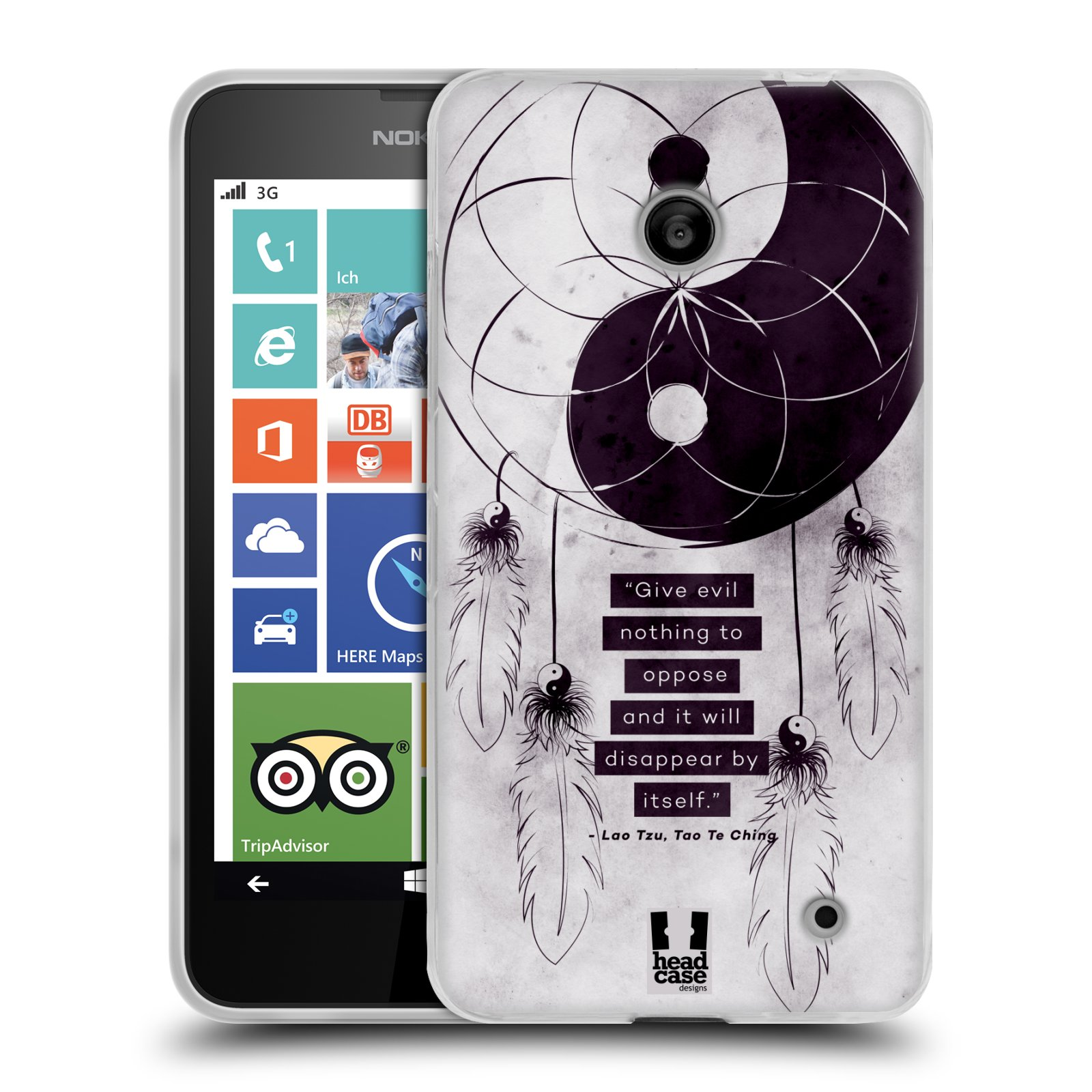 Silikonové pouzdro na mobil Nokia Lumia 635 HEAD CASE YIn a Yang CATCHER (Silikonový kryt či obal na mobilní telefon Nokia Lumia 635 Dual SIM)