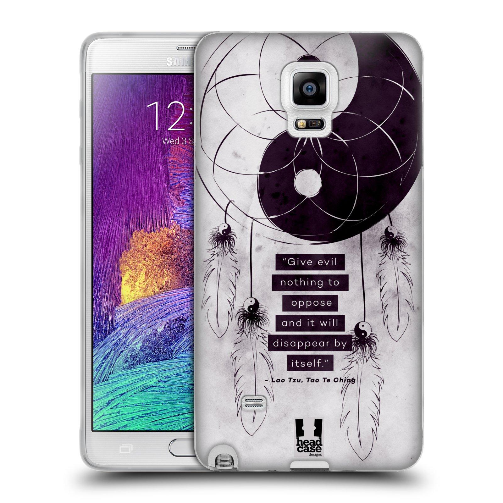 Silikonové pouzdro na mobil Samsung Galaxy Note 4 HEAD CASE YIn a Yang CATCHER (Silikonový kryt či obal na mobilní telefon Samsung Galaxy Note 4 SM-N910F)