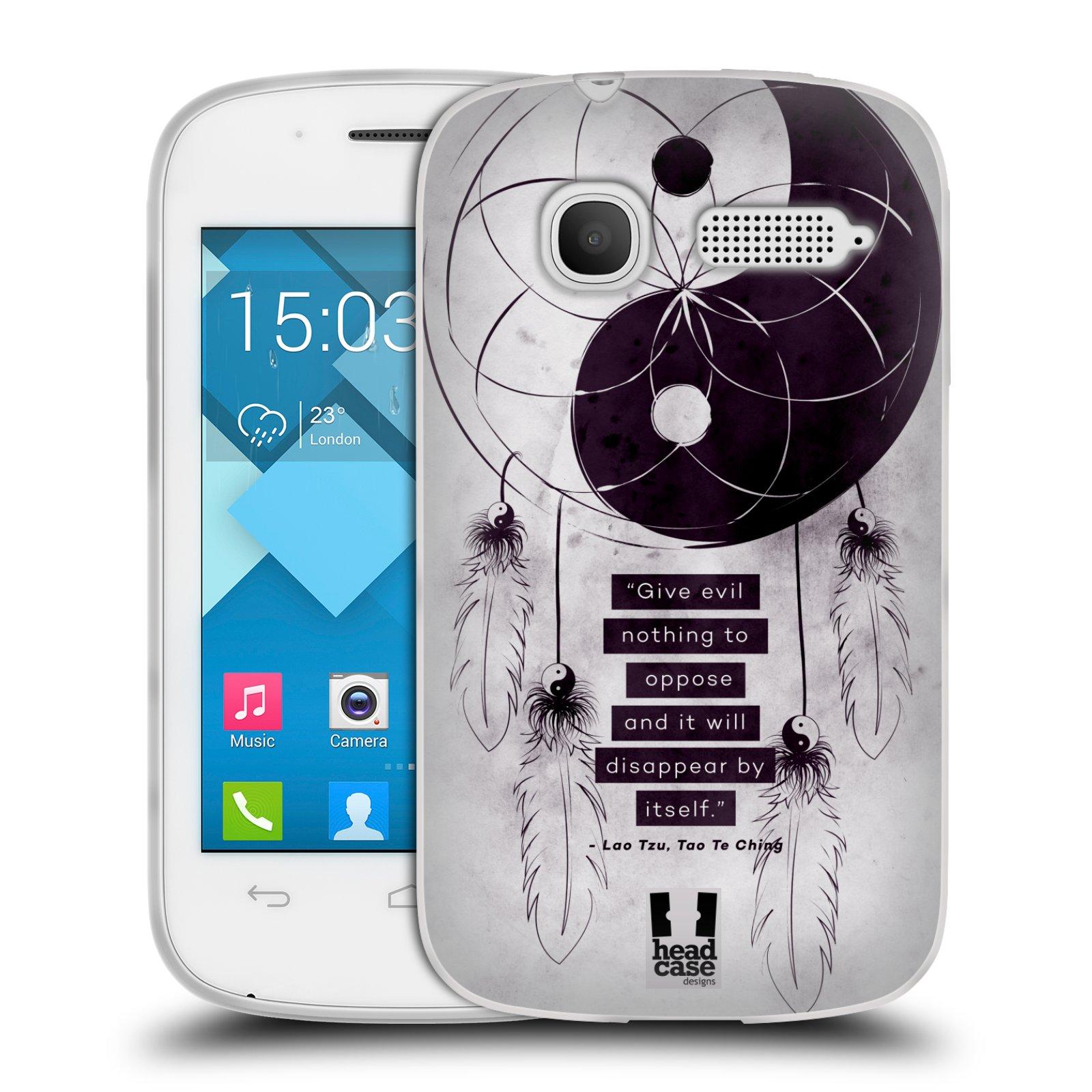 Silikonové pouzdro na mobil Alcatel One Touch Pop C1 HEAD CASE YIn a Yang CATCHER (Silikonový kryt či obal na mobilní telefon Alcatel OT-4015D POP C1)