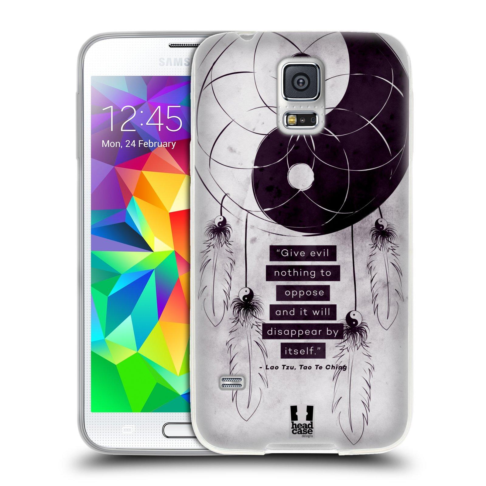 Silikonové pouzdro na mobil Samsung Galaxy S5 HEAD CASE YIn a Yang CATCHER (Silikonový kryt či obal na mobilní telefon Samsung Galaxy S5 SM-G900F)