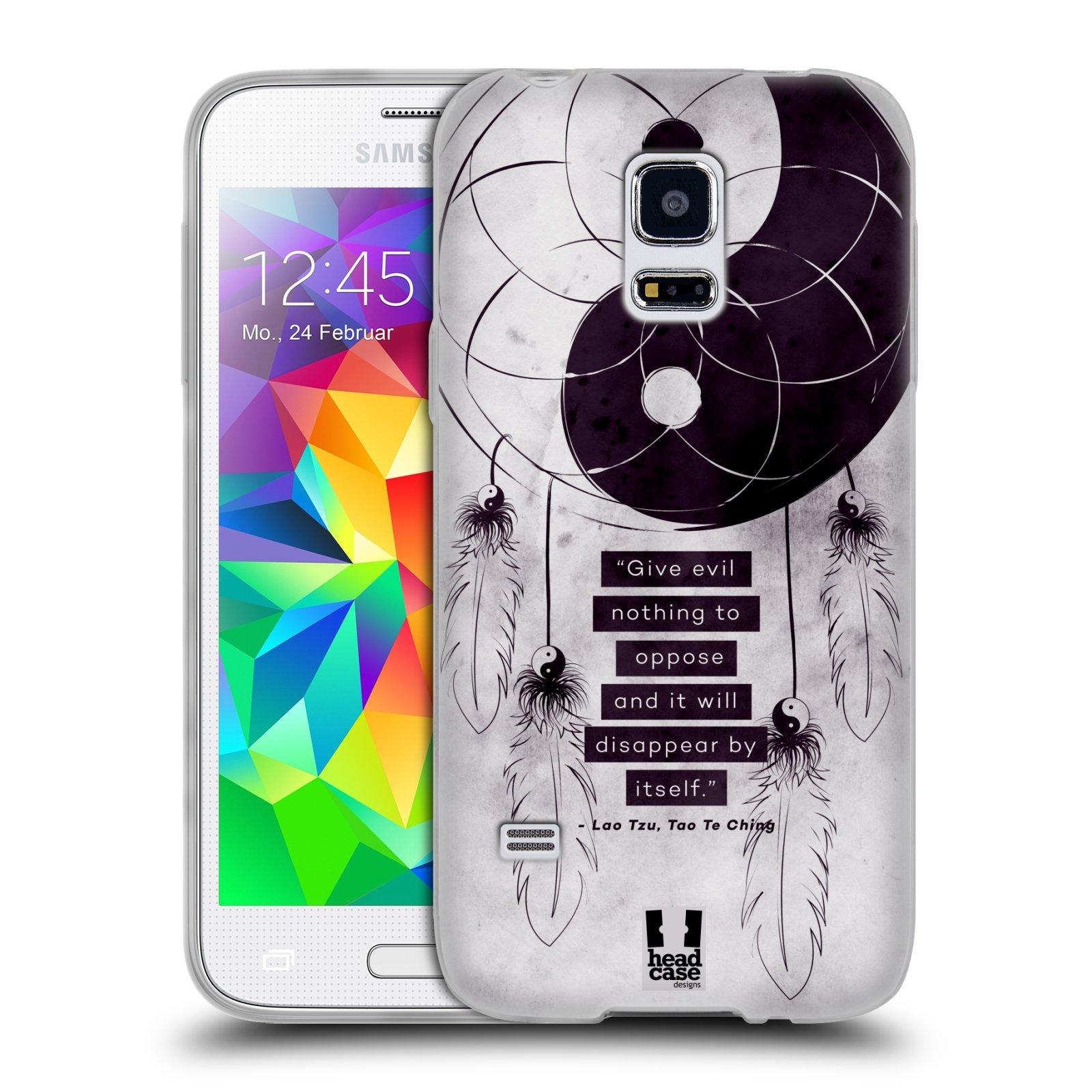 Silikonové pouzdro na mobil Samsung Galaxy S5 Mini HEAD CASE YIn a Yang CATCHER (Silikonový kryt či obal na mobilní telefon Samsung Galaxy S5 Mini SM-G800F)