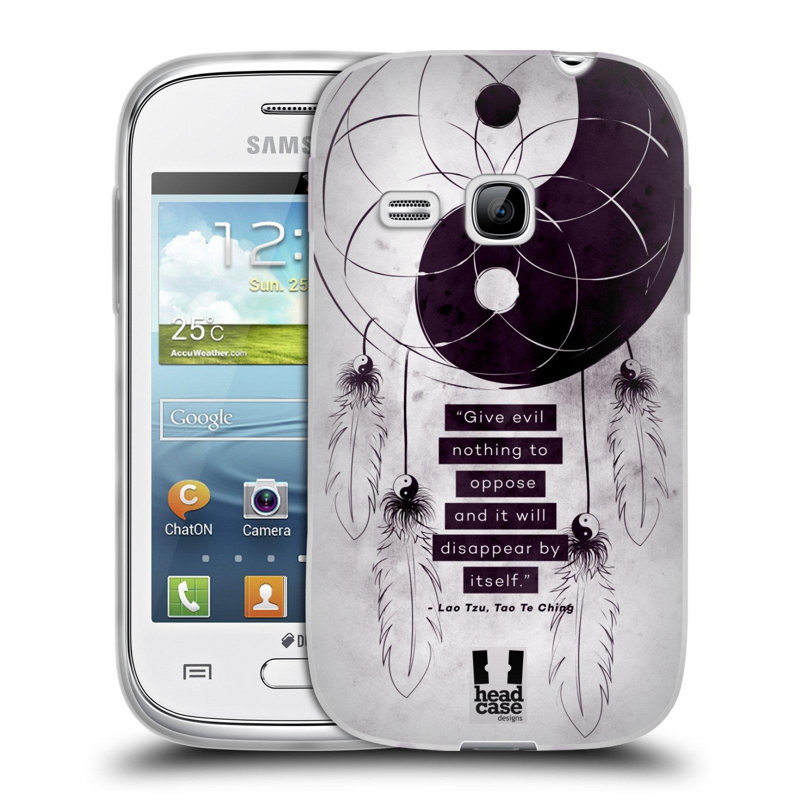 Silikonové pouzdro na mobil Samsung Galaxy Young HEAD CASE YIn a Yang CATCHER (Silikonový kryt či obal na mobilní telefon Samsung Galaxy Young GT-S6310)