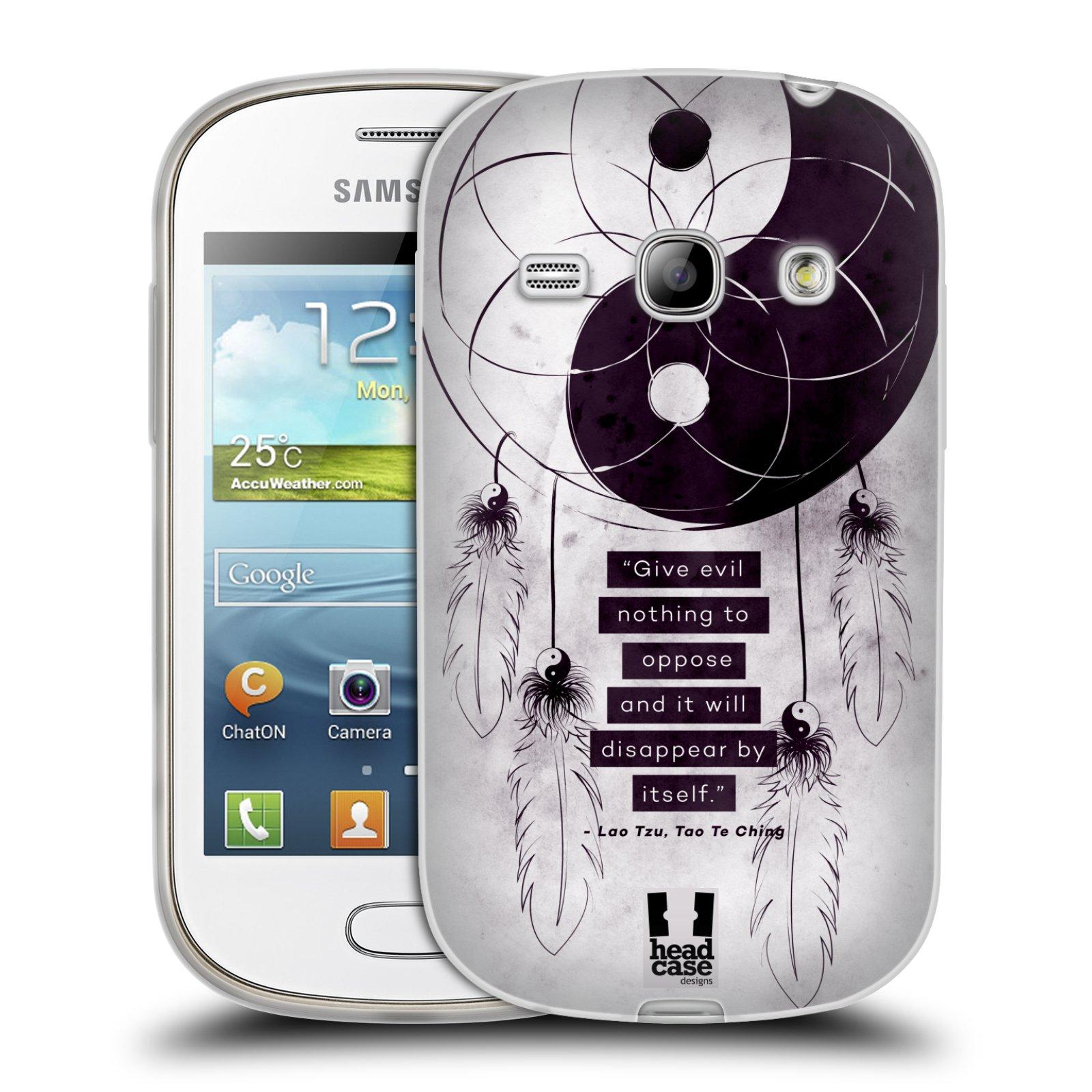 Silikonové pouzdro na mobil Samsung Galaxy Fame HEAD CASE YIn a Yang CATCHER (Silikonový kryt či obal na mobilní telefon Samsung Galaxy Fame GT-S6810)