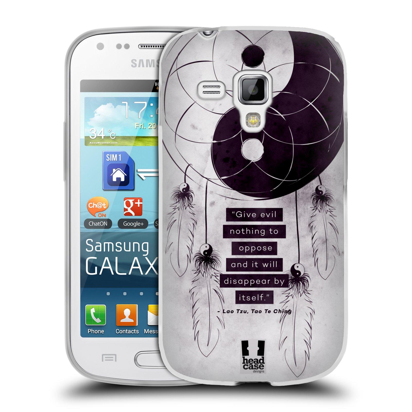 Silikonové pouzdro na mobil Samsung Galaxy Trend HEAD CASE YIn a Yang CATCHER (Silikonový kryt či obal na mobilní telefon Samsung Galaxy Trend GT-S7560)