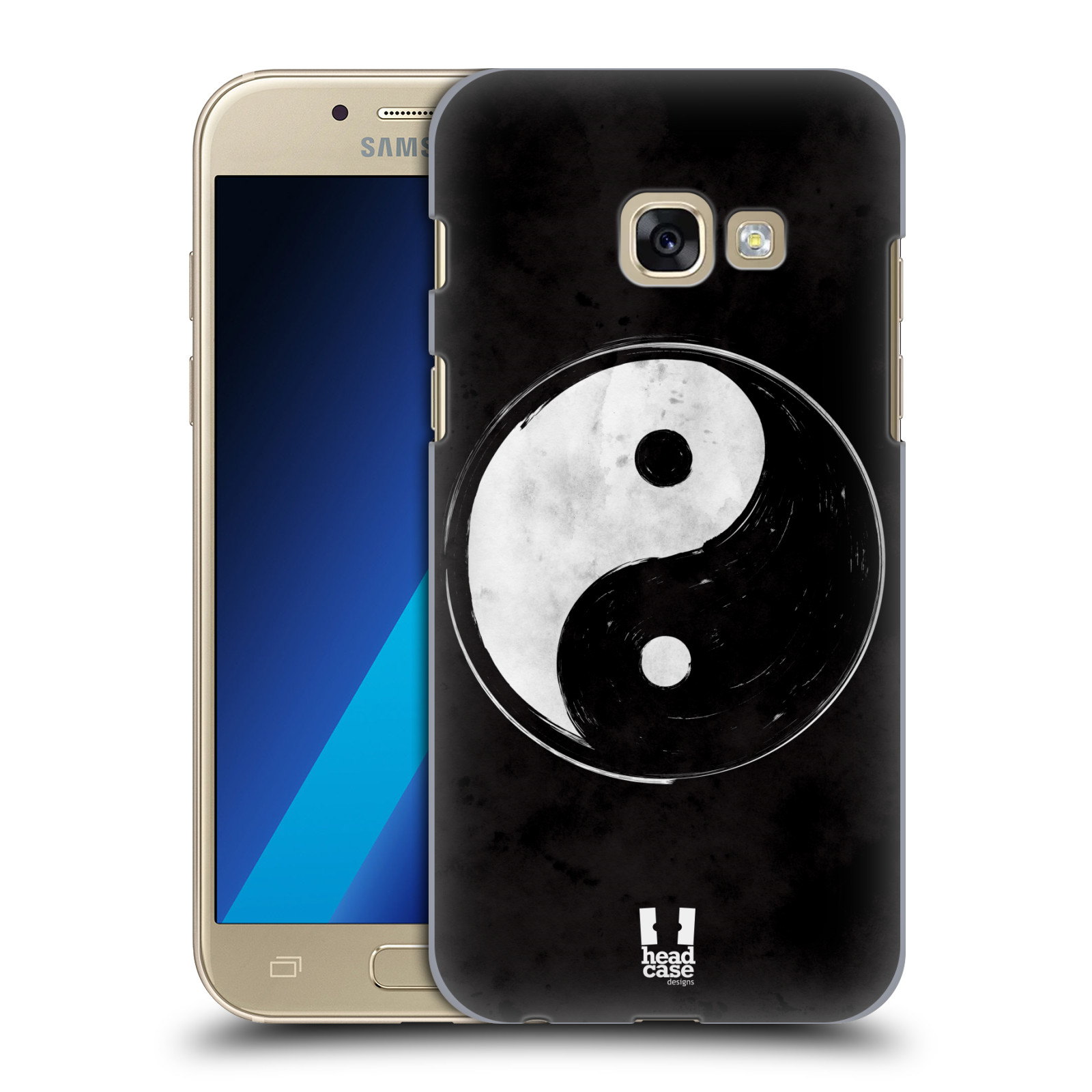 Plastové pouzdro na mobil Samsung Galaxy A3 (2017) HEAD CASE Yin a Yang  BW