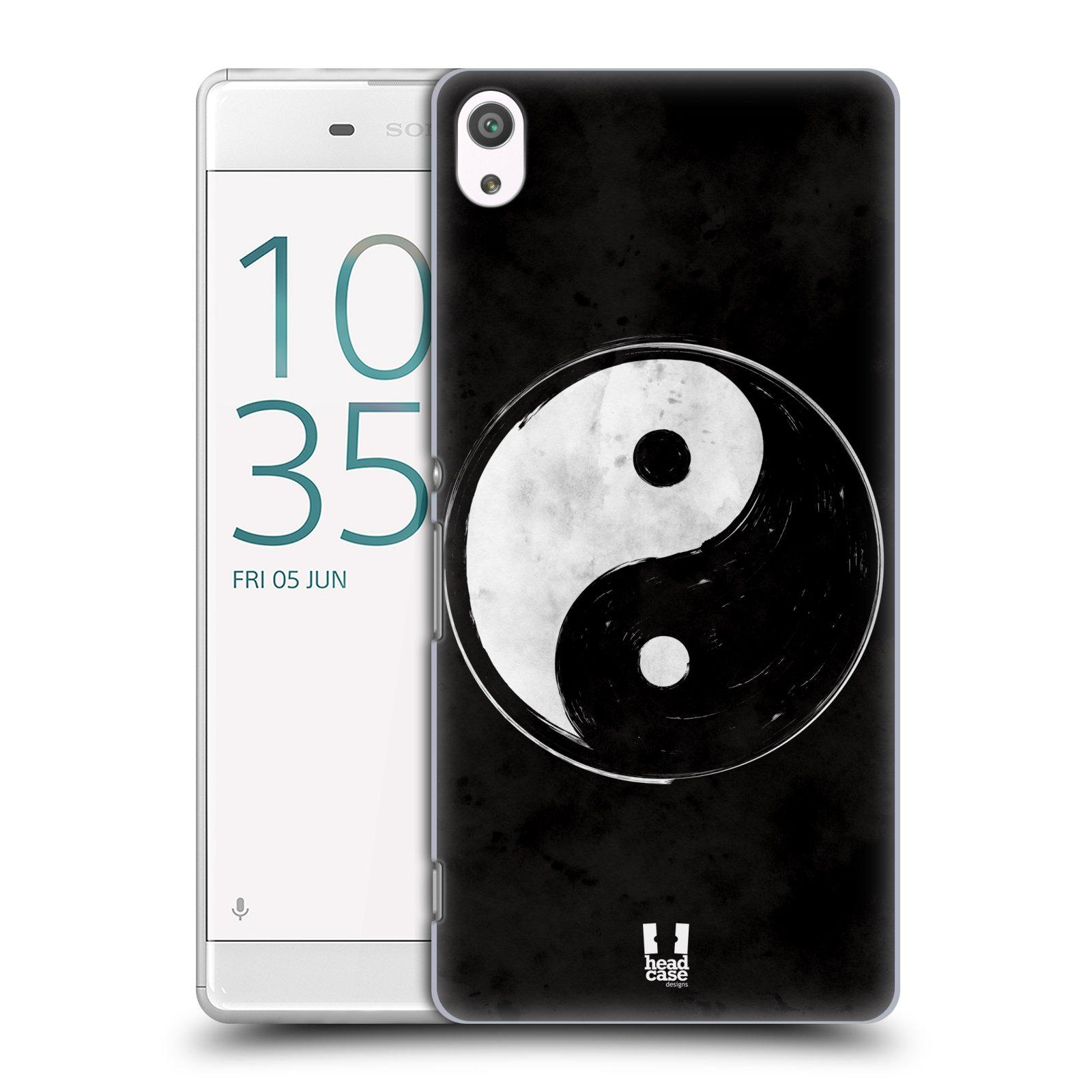 Plastové pouzdro na mobil Sony Xperia XA Ultra HEAD CASE Yin a Yang BW (Plastový kryt či obal na mobilní telefon Sony Xperia XA Ultra F3211)