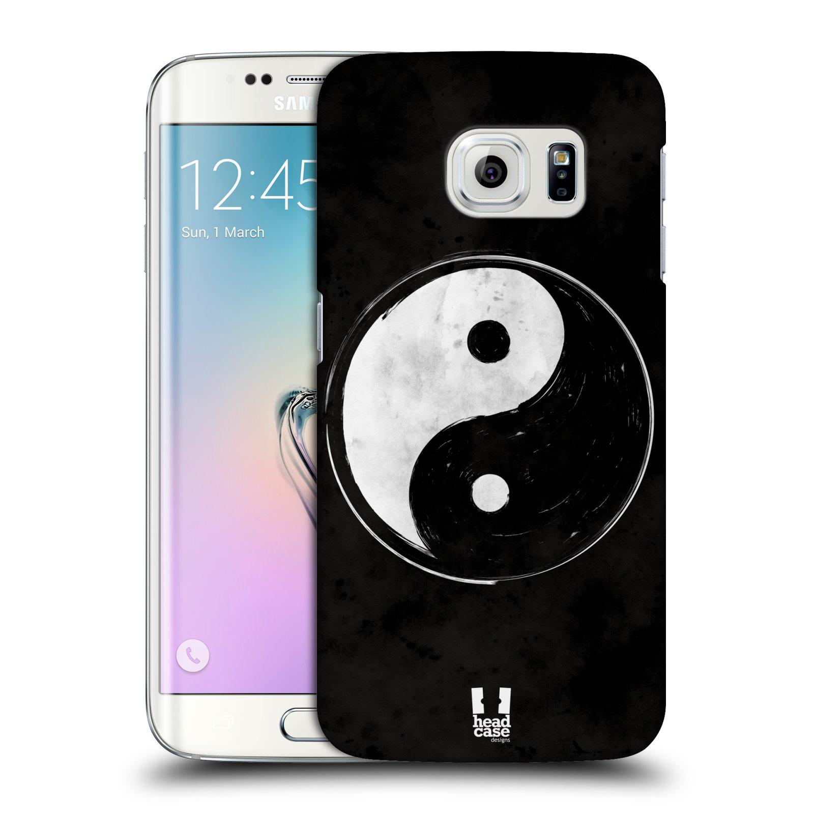 Plastové pouzdro na mobil Samsung Galaxy S6 Edge HEAD CASE Yin a Yang BW (Kryt či obal na mobilní telefon Samsung Galaxy S6 Edge SM-G925F)
