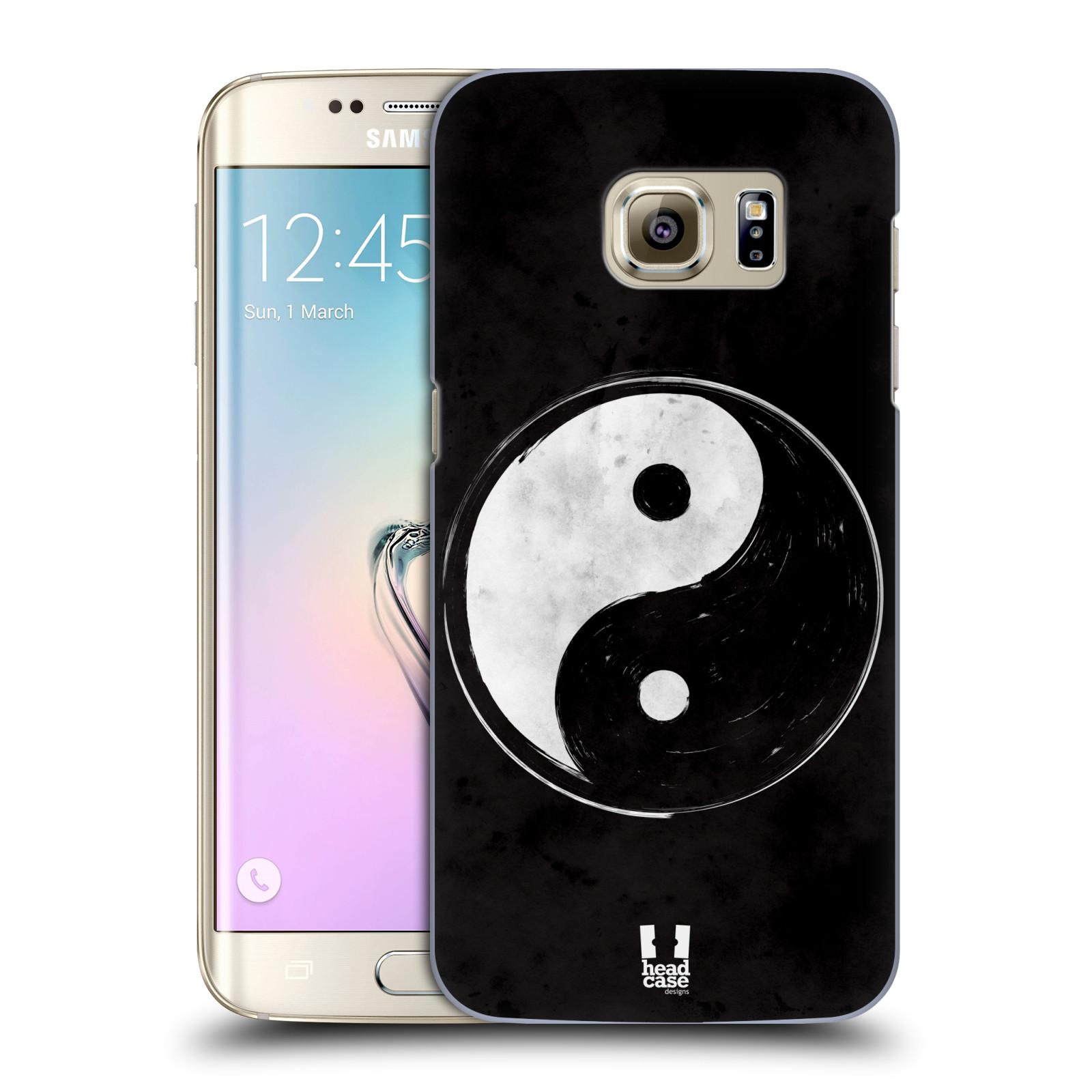 Plastové pouzdro na mobil Samsung Galaxy S7 Edge HEAD CASE Yin a Yang BW (Kryt či obal na mobilní telefon Samsung Galaxy S7 Edge SM-G935F)