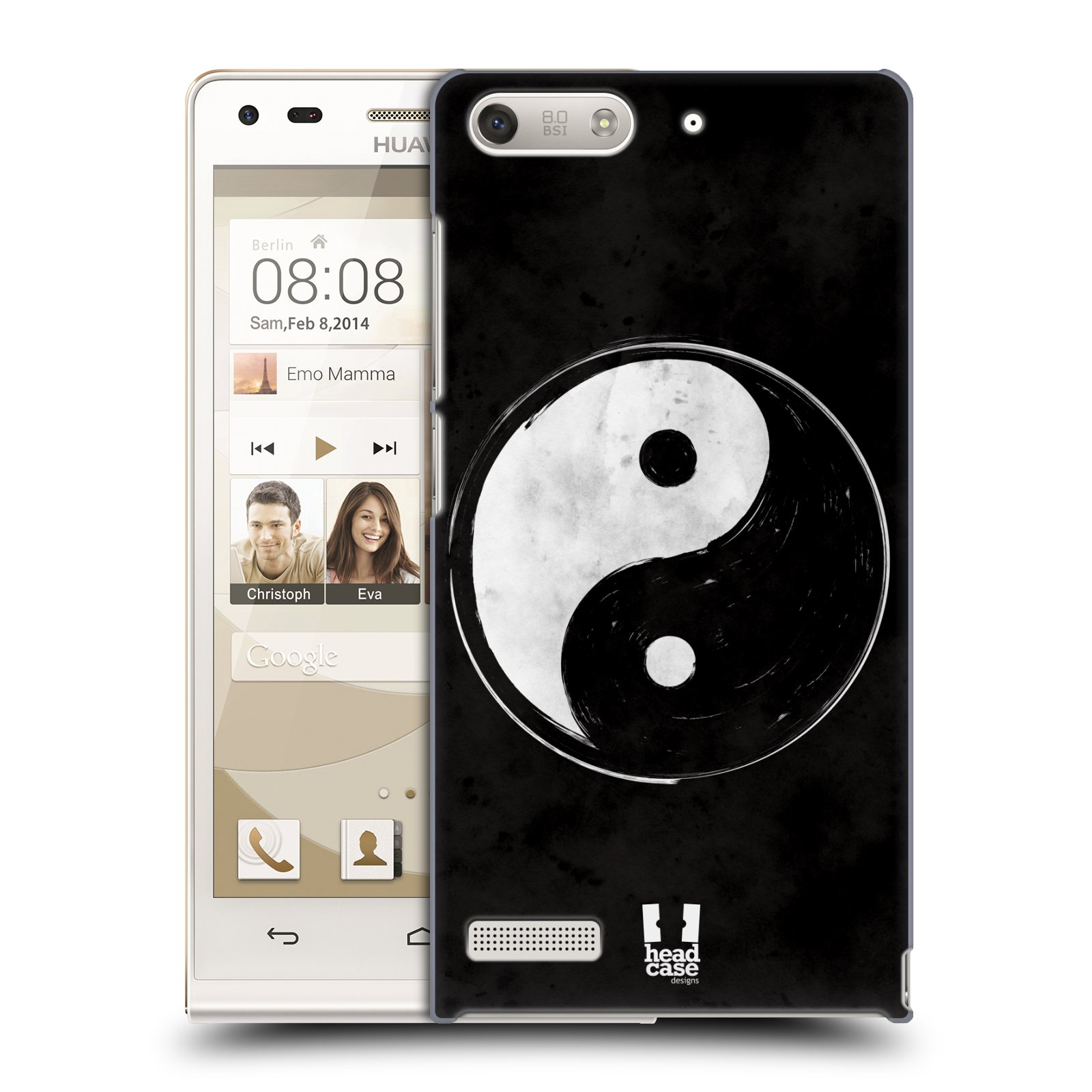Plastové pouzdro na mobil Huawei Ascend G6 HEAD CASE Yin a Yang BW (Kryt či obal na mobilní telefon Huawei Ascend G6 bez LTE)