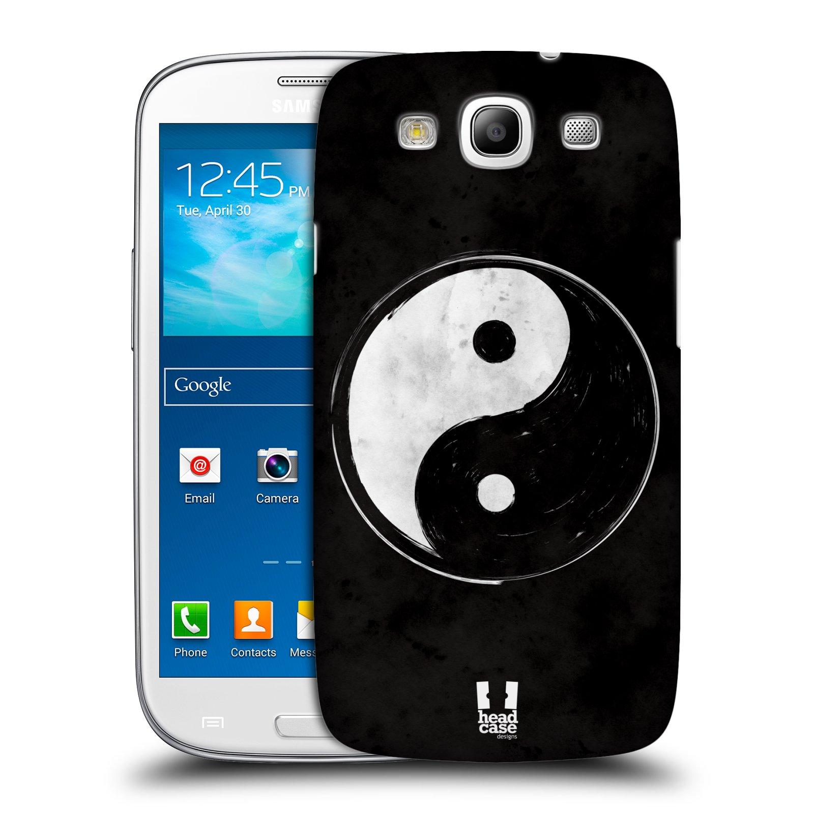 Plastové pouzdro na mobil Samsung Galaxy S3 Neo HEAD CASE Yin a Yang BW