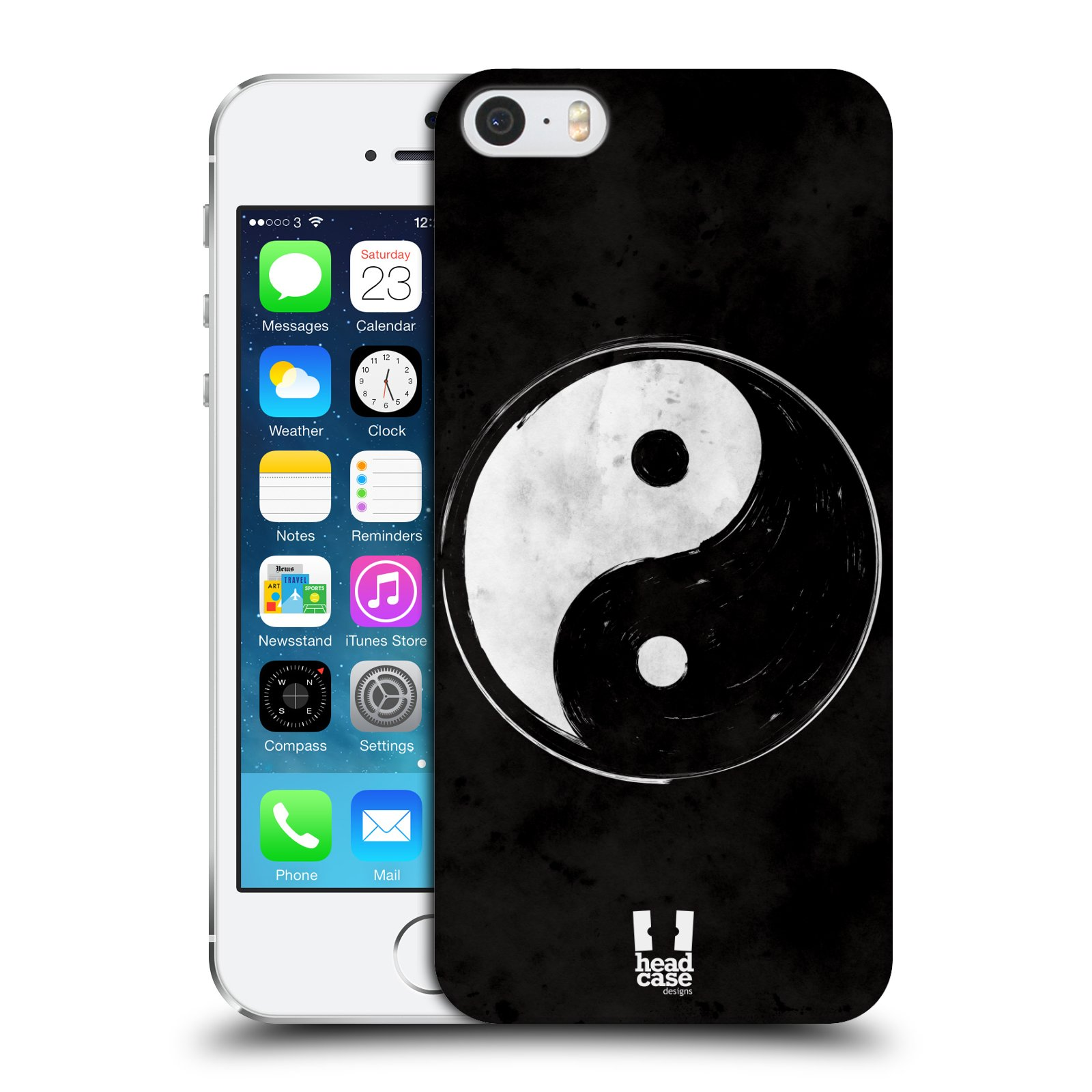 Plastové pouzdro na mobil Apple iPhone SE, 5 a 5S HEAD CASE Yin a Yang  BW