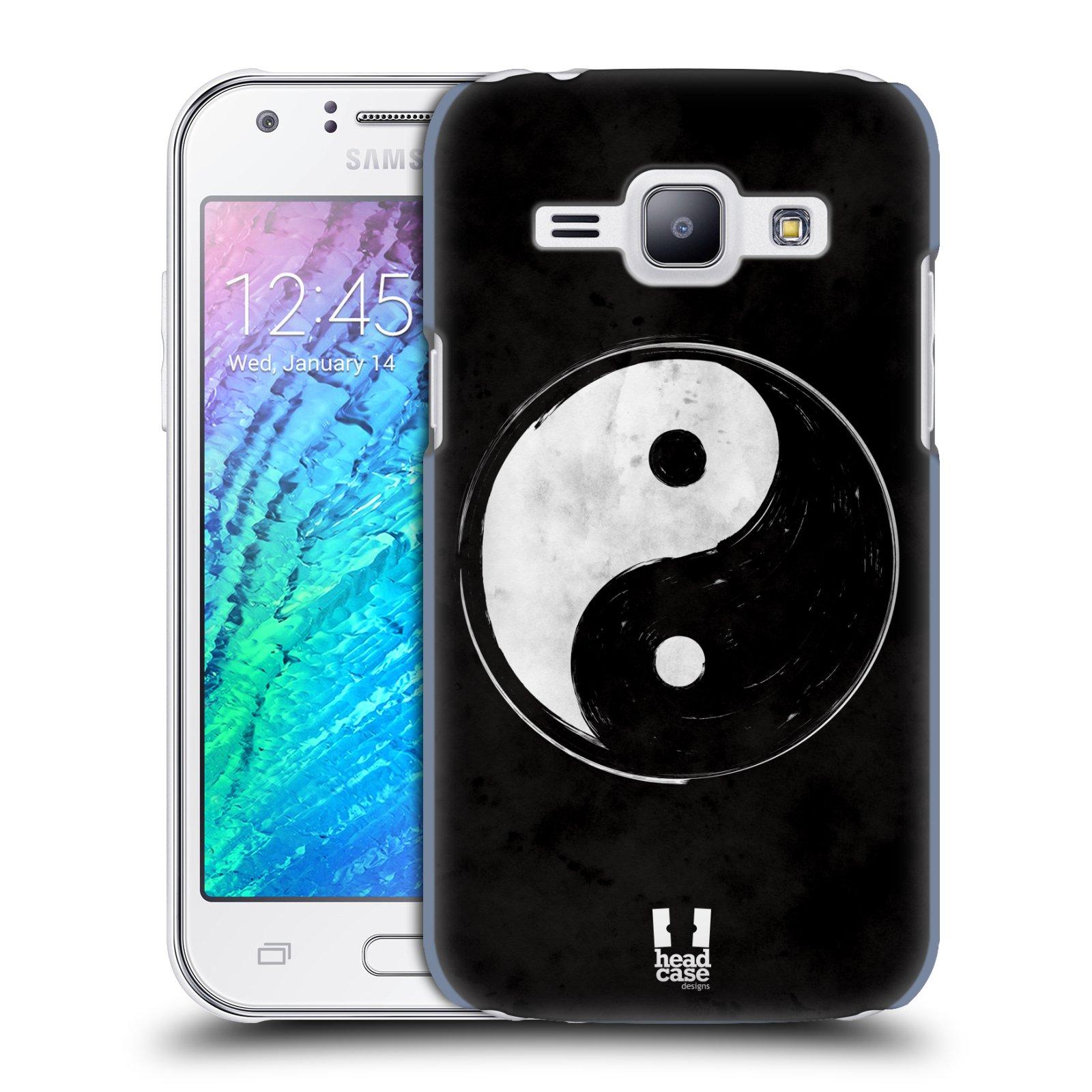 Plastové pouzdro na mobil Samsung Galaxy J1 HEAD CASE Yin a Yang BW (Kryt či obal na mobilní telefon Samsung Galaxy J1 a J1 Duos )