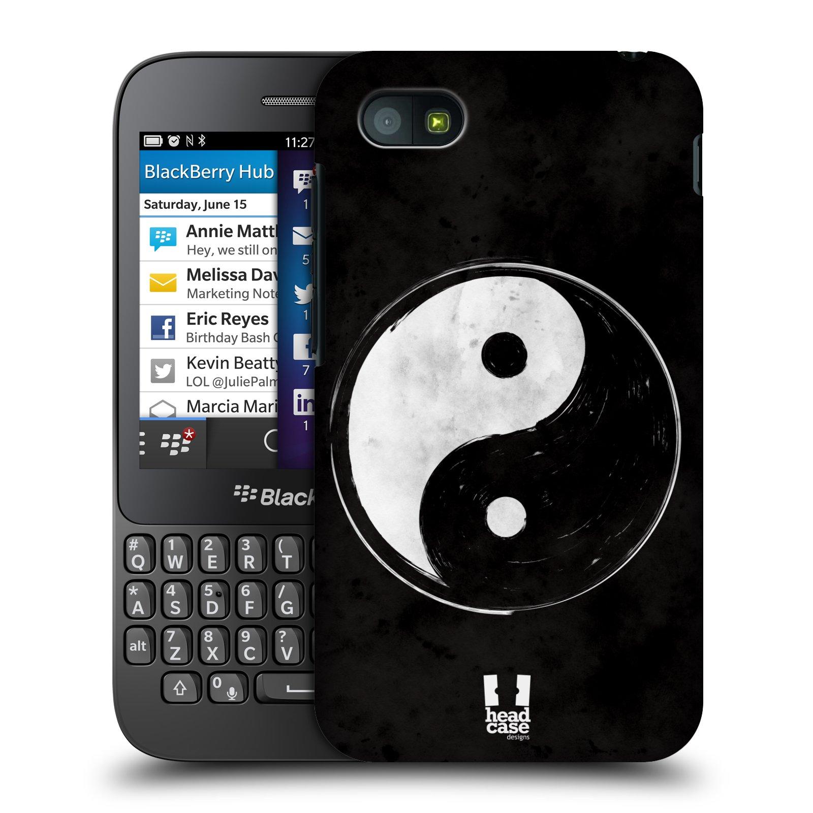 Plastové pouzdro na mobil Blackberry Q5 HEAD CASE Yin a Yang BW (Kryt či obal na mobilní telefon Blackberry Q5)