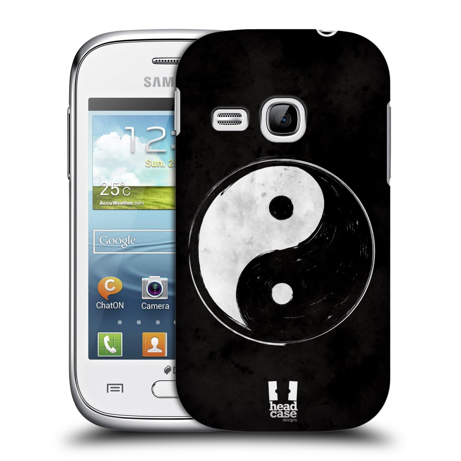 Plastové pouzdro na mobil Samsung Galaxy Young HEAD CASE Yin a Yang BW (Kryt či obal na mobilní telefon Samsung Galaxy Young GT-S6310)