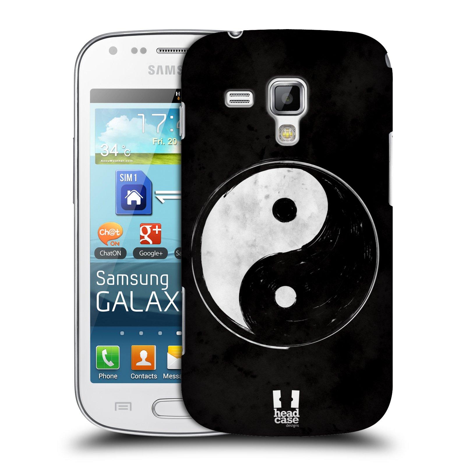 Plastové pouzdro na mobil Samsung Galaxy Trend Plus HEAD CASE Yin a Yang BW (Kryt či obal na mobilní telefon Samsung Galaxy Trend Plus GT-S7580)