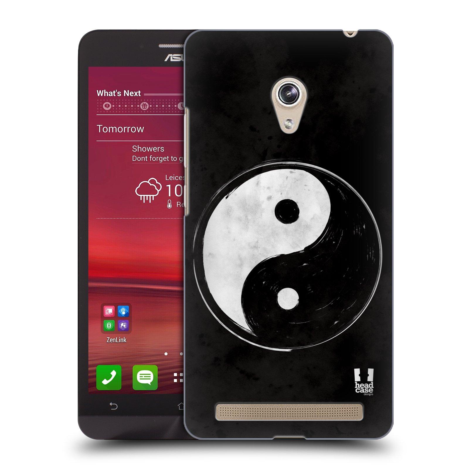 Plastové pouzdro na mobil Asus Zenfone 6 HEAD CASE Yin a Yang BW (Kryt či obal na mobilní telefon Asus Zenfone 6 A600CG / A601CG)