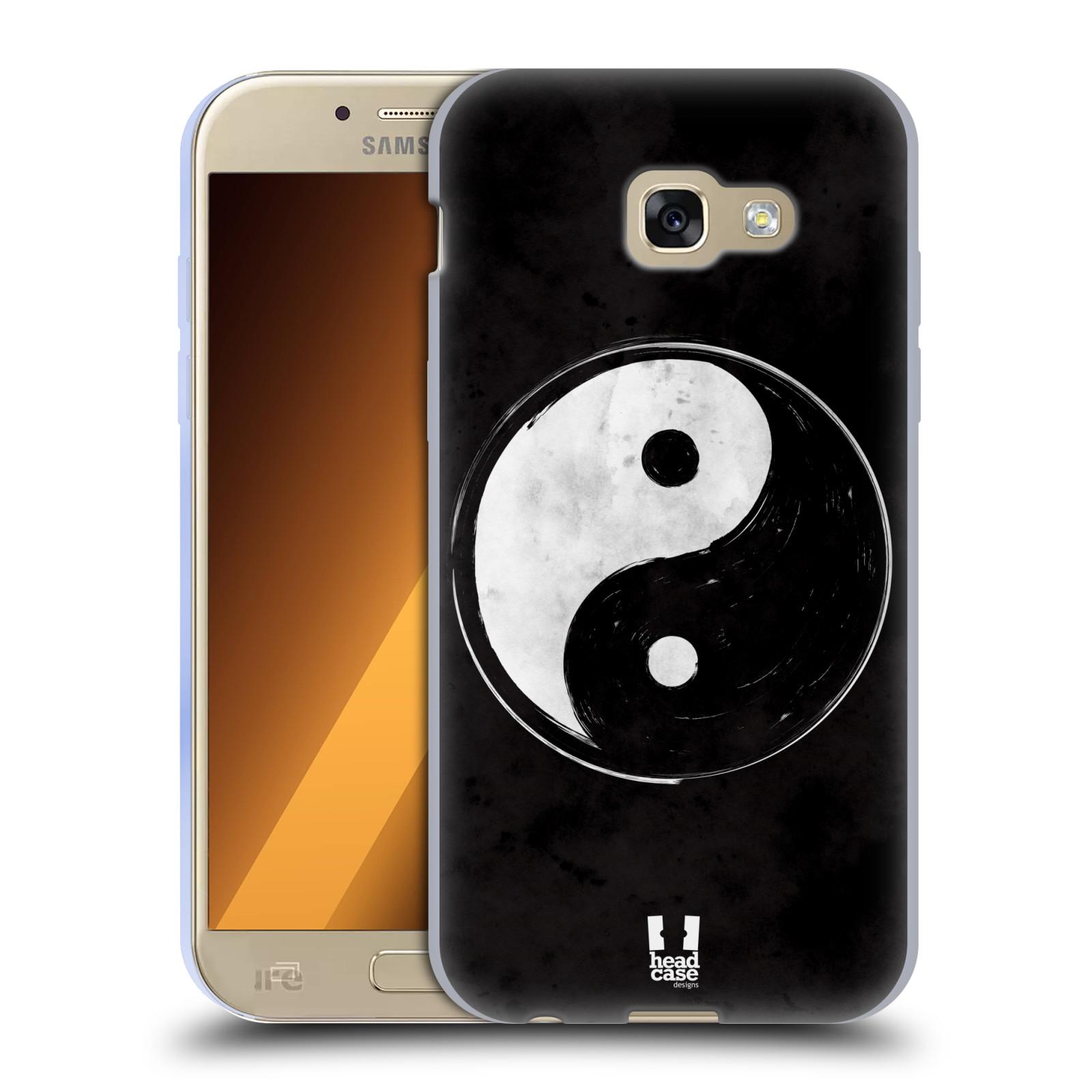 Silikonové pouzdro na mobil Samsung Galaxy A5 (2017) HEAD CASE YIn a Yang  BW