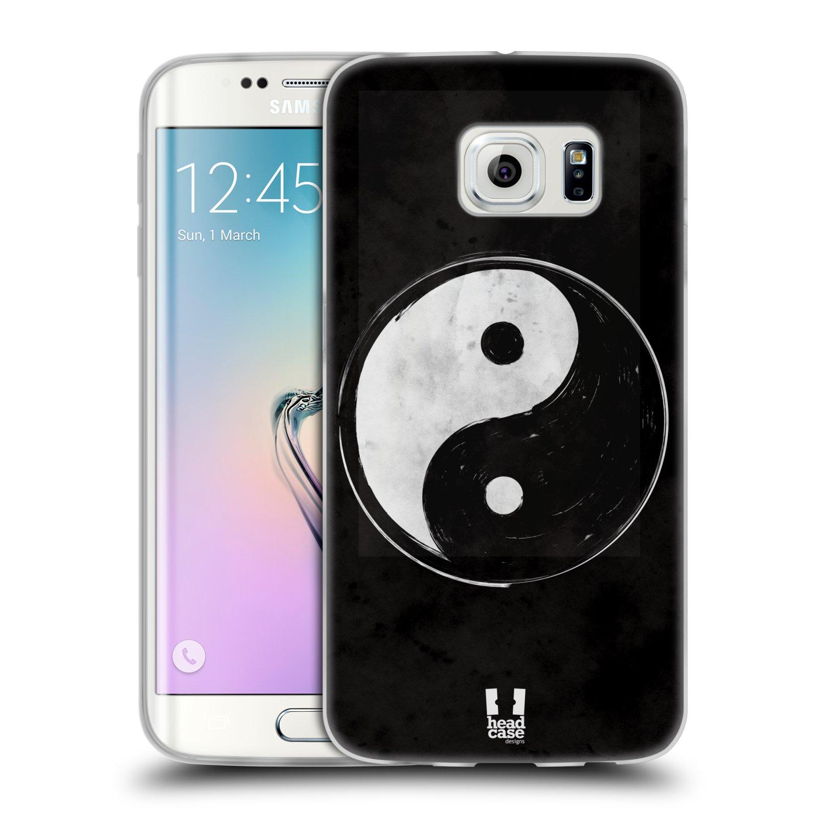 Silikonové pouzdro na mobil Samsung Galaxy S6 Edge HEAD CASE YIn a Yang BW (Silikonový kryt či obal na mobilní telefon Samsung Galaxy S6 Edge SM-G925F)