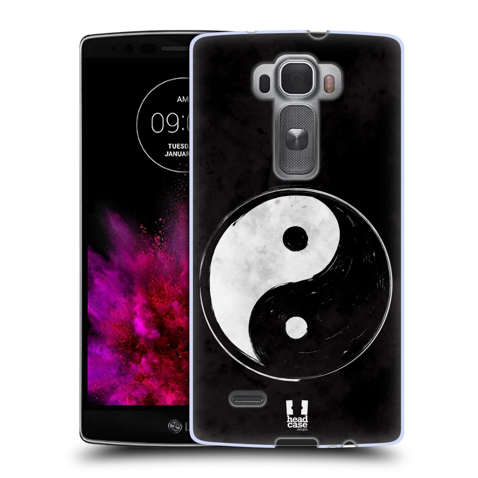 Silikonové pouzdro na mobil LG G Flex 2 HEAD CASE YIn a Yang BW (Silikonový kryt či obal na mobilní telefon LG G Flex 2 H955)