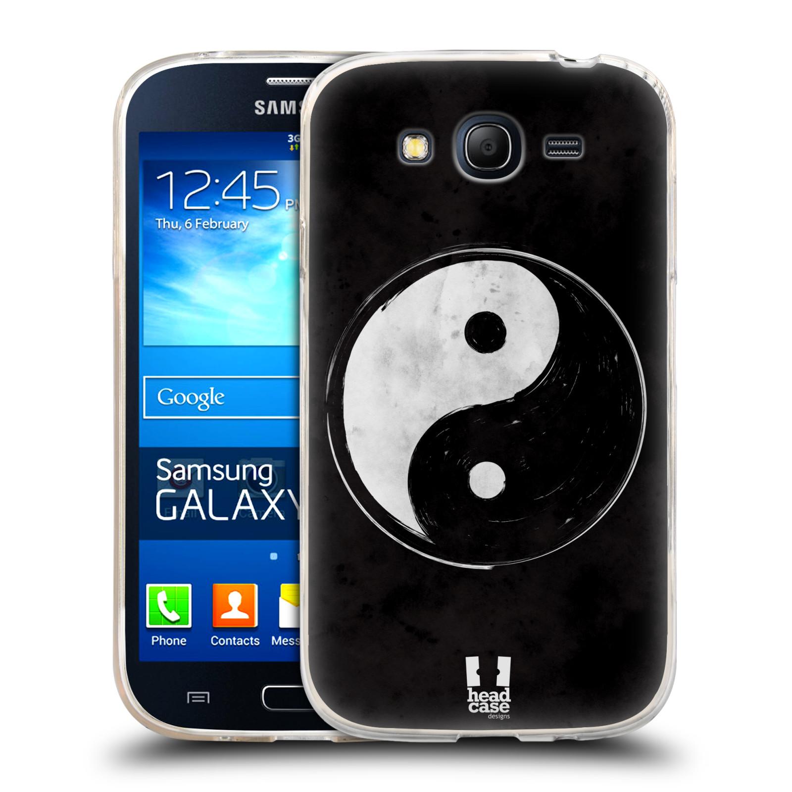 Silikonové pouzdro na mobil Samsung Galaxy Grand Neo HEAD CASE YIn a Yang BW (Silikonový kryt či obal na mobilní telefon Samsung Galaxy Grand Neo GT-I9060)