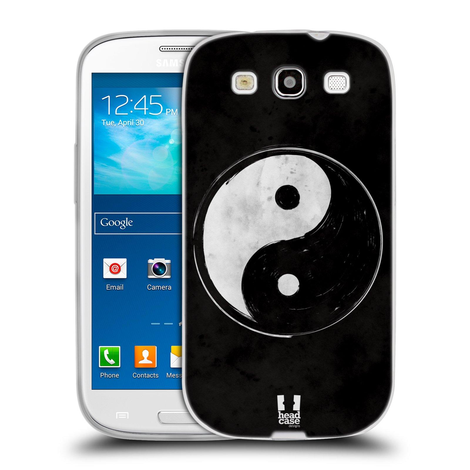 Silikonové pouzdro na mobil Samsung Galaxy S3 Neo HEAD CASE YIn a Yang BW (Silikonový kryt či obal na mobilní telefon Samsung Galaxy S3 Neo GT-i9301i)