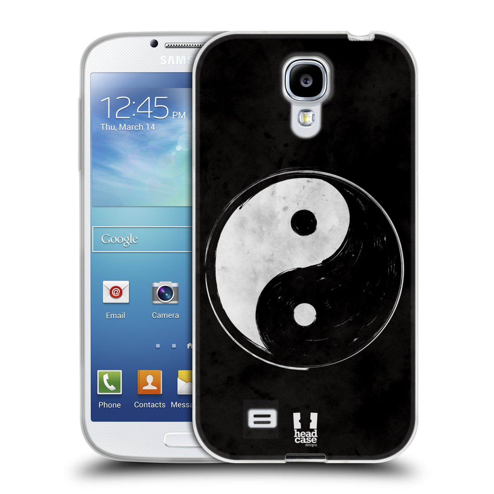 Silikonové pouzdro na mobil Samsung Galaxy S4 HEAD CASE YIn a Yang BW (Silikonový kryt či obal na mobilní telefon Samsung Galaxy S4 GT-i9505 / i9500)