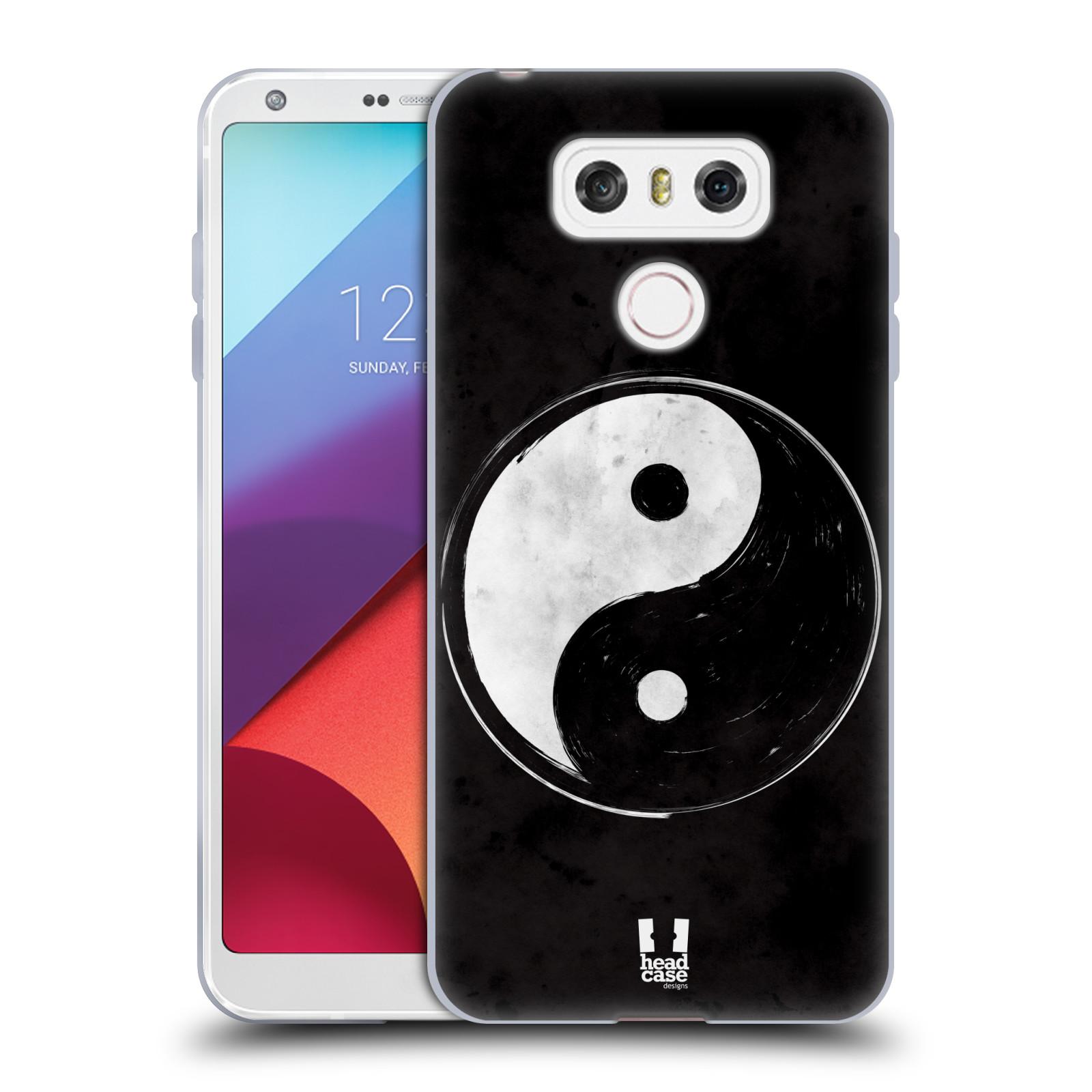 Silikonové pouzdro na mobil LG G6 - Head Case YIn a Yang BW (Silikonový kryt či obal na mobilní telefon LG G6 H870 / LG G6 Dual SIM H870DS)