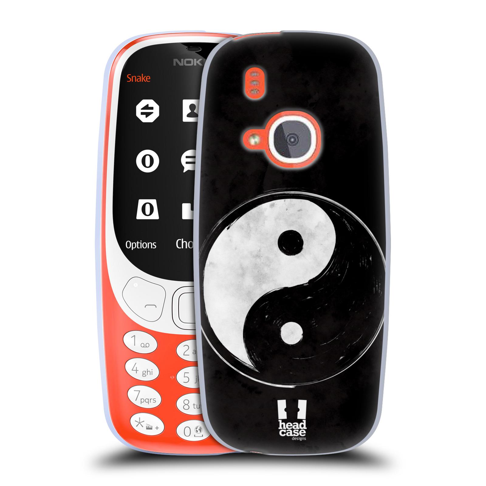 Silikonové pouzdro na mobil Nokia 3310 - Head Case - YIn a Yang BW (Silikonový kryt či obal na mobilní telefon Nokia 3310 (2017) s motivem YIn a Yang BW)