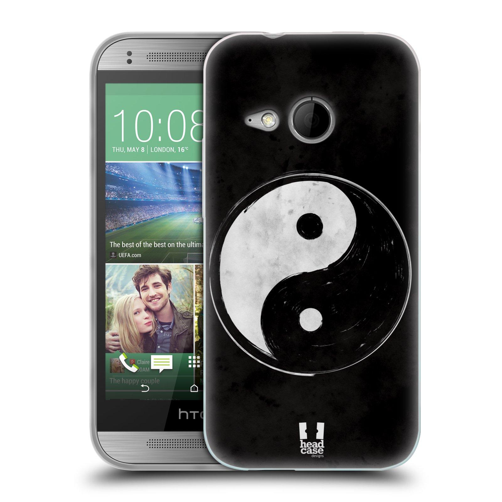 Silikonové pouzdro na mobil HTC ONE Mini 2 HEAD CASE YIn a Yang BW (Silikonový kryt či obal na mobilní telefon HTC ONE Mini 2)