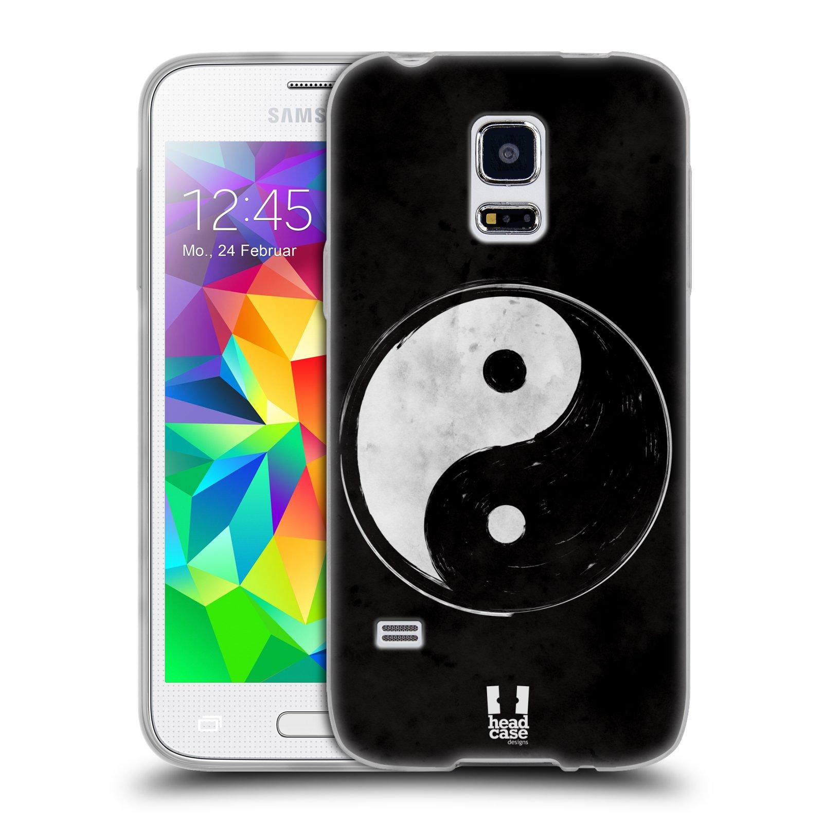 Silikonové pouzdro na mobil Samsung Galaxy S5 Mini HEAD CASE YIn a Yang BW (Silikonový kryt či obal na mobilní telefon Samsung Galaxy S5 Mini SM-G800F)